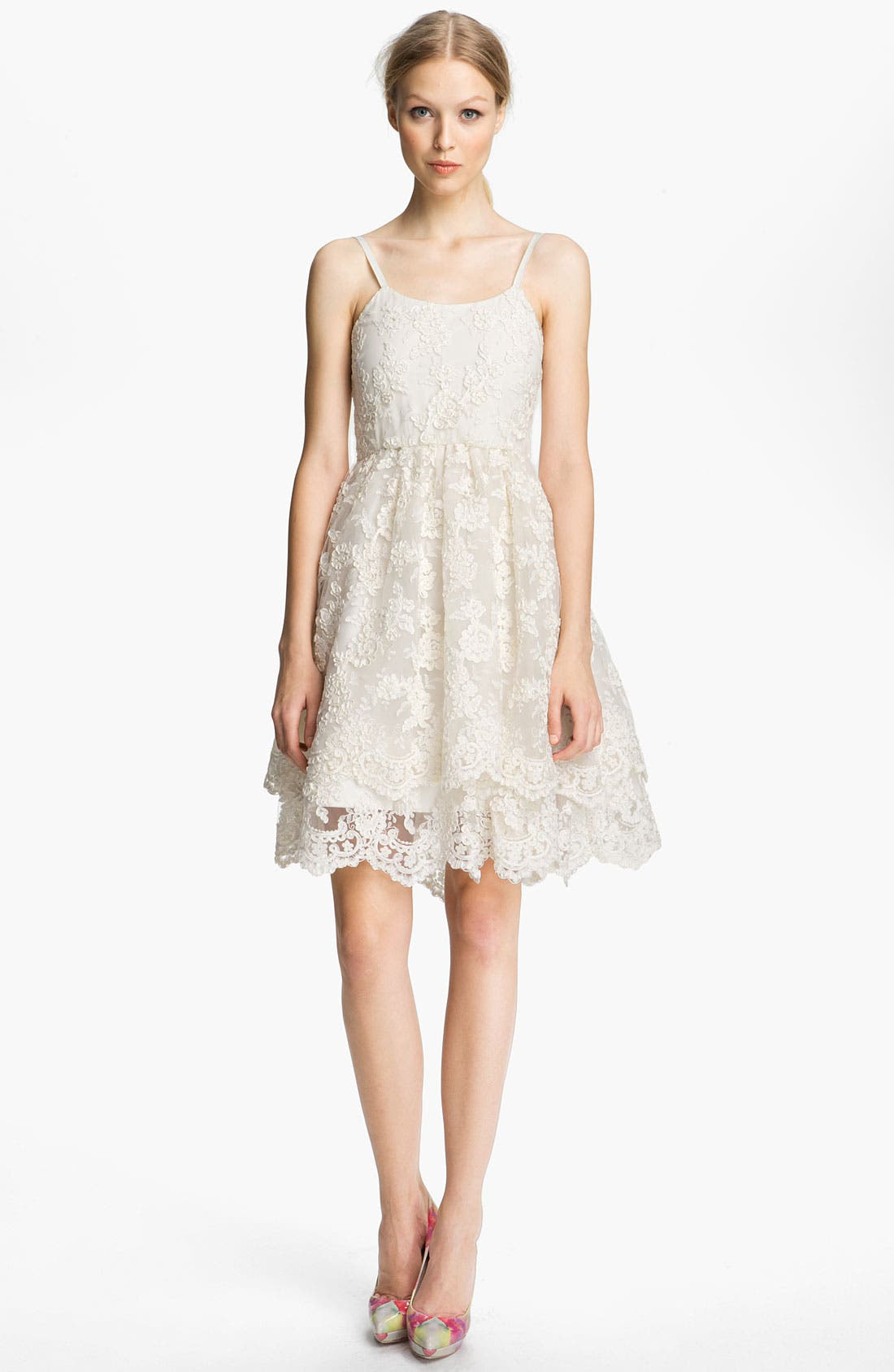 Main Image - Alice + Olivia Lace Tank Dress