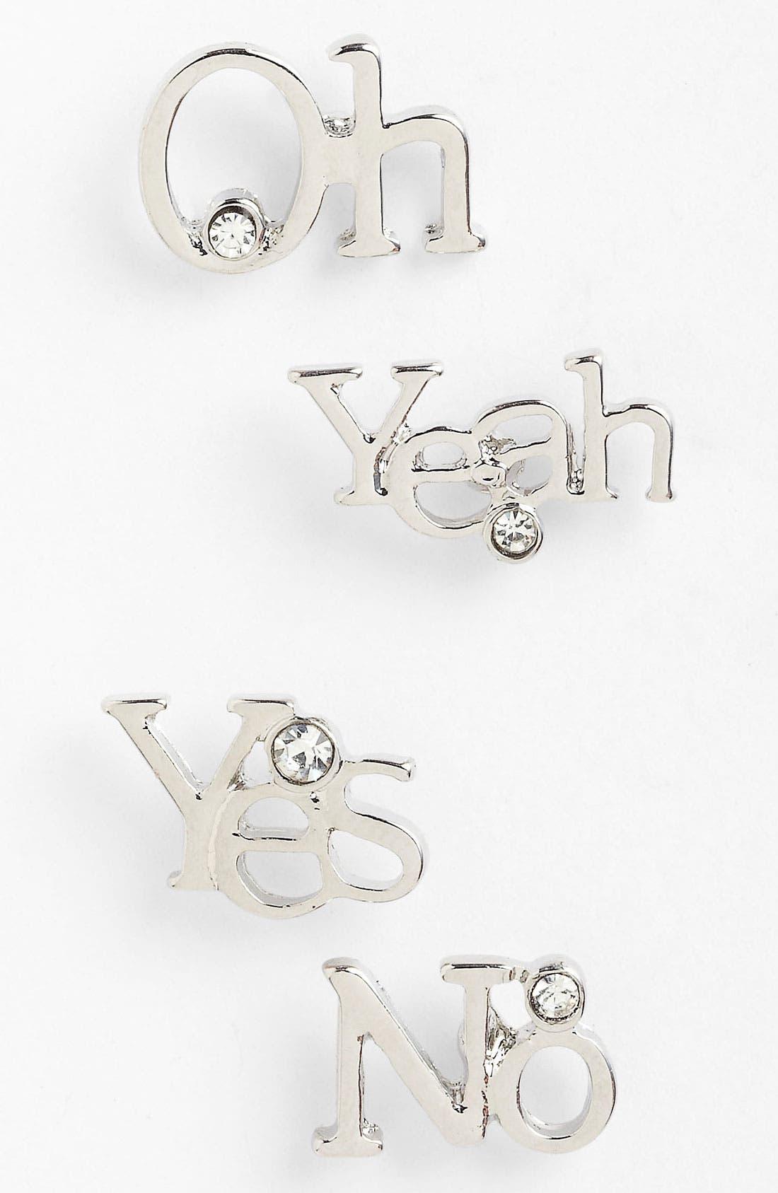 Alternate Image 1 Selected - Cara 'Oh No' Assorted Stud Earrings