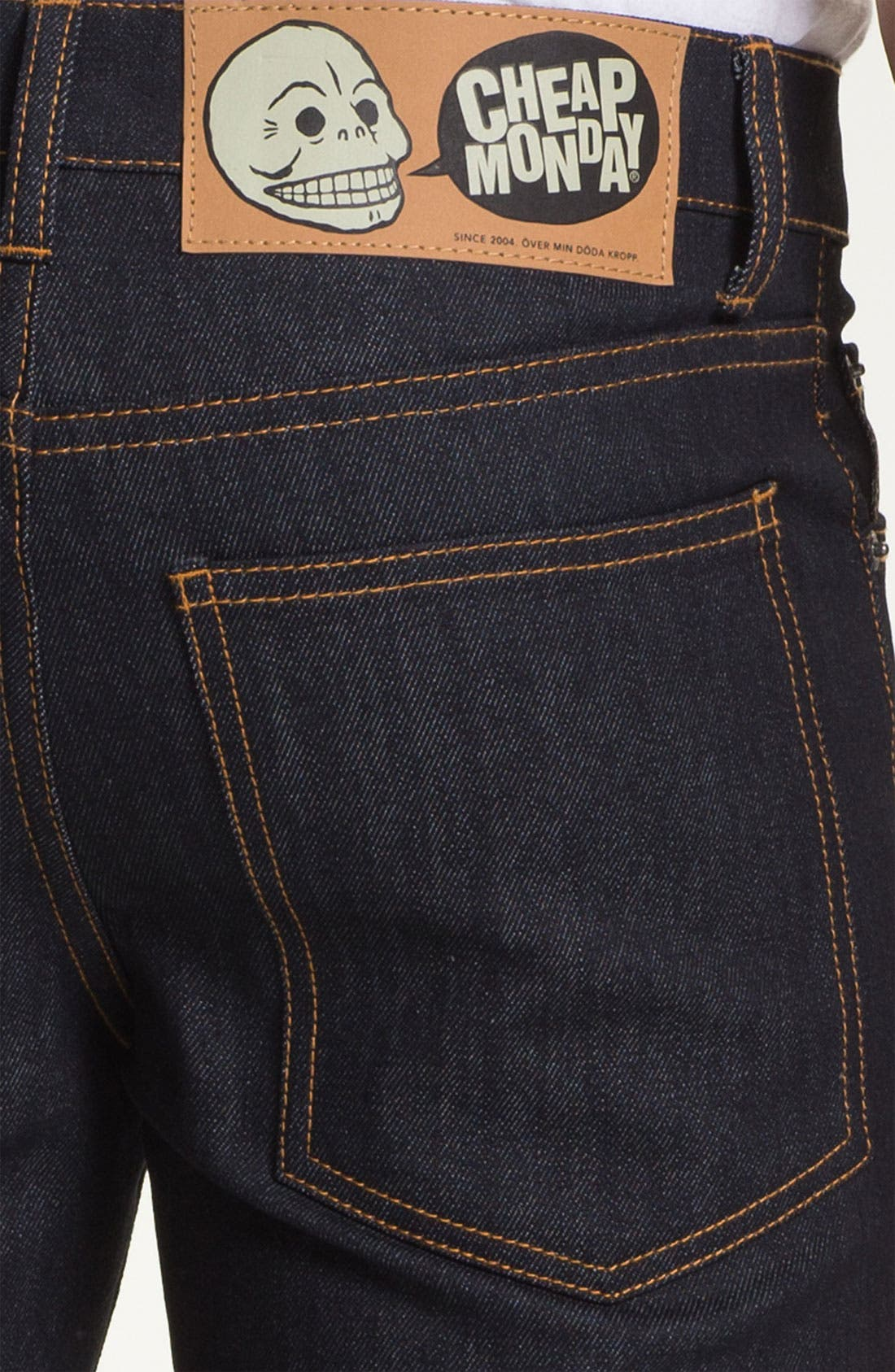 Alternate Image 4  - Cheap Monday Slim Straight Leg Jeans (Original Unwashed)