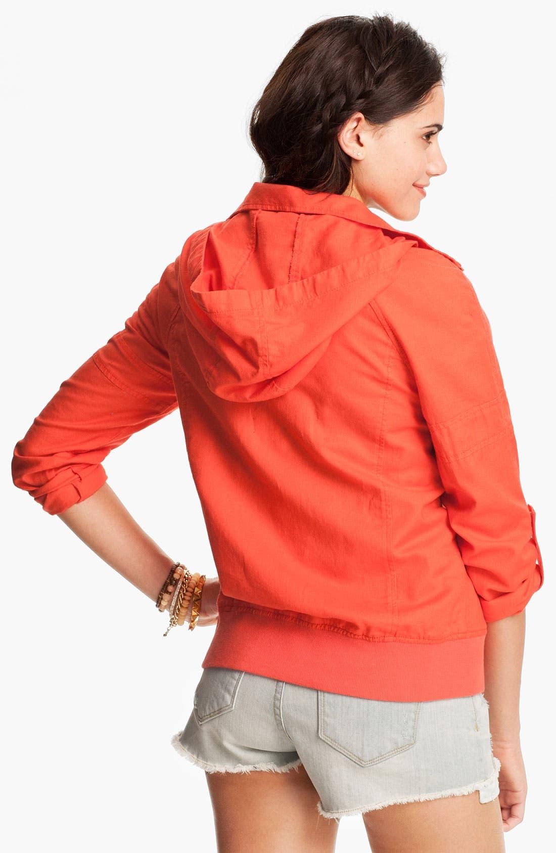 Alternate Image 2  - BP. Hooded Twill Jacket (Juniors)