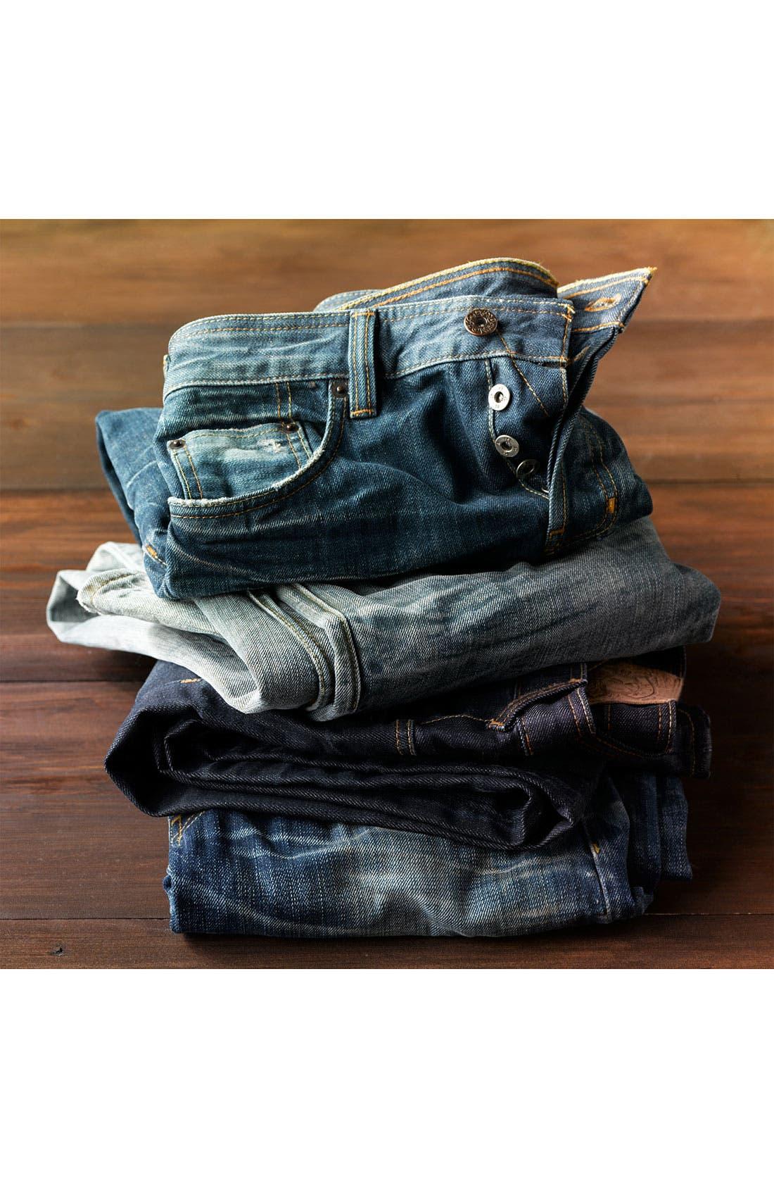 Alternate Image 7  - Natural Selection Denim 'Broken' Narrow Straight Leg Selvedge Jeans (Dune)