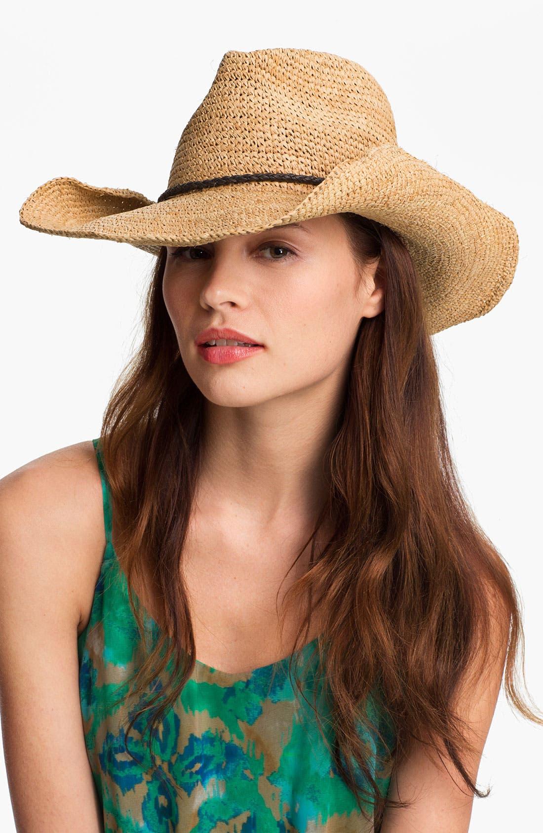 Main Image - Trouvé Straw Cowboy Hat