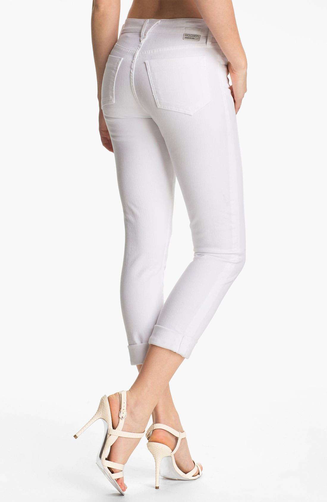 Alternate Image 2  - Goldsign 'Jenny' High Waist Crop Skinny Jeans (Divine)