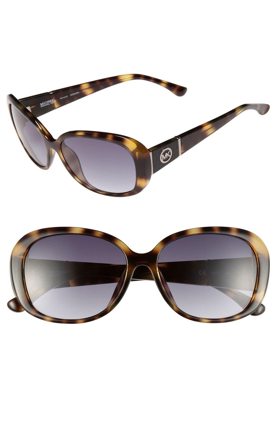 Alternate Image 1 Selected - MICHAEL Michael Kors 'Norwich' 56mm Sunglasses