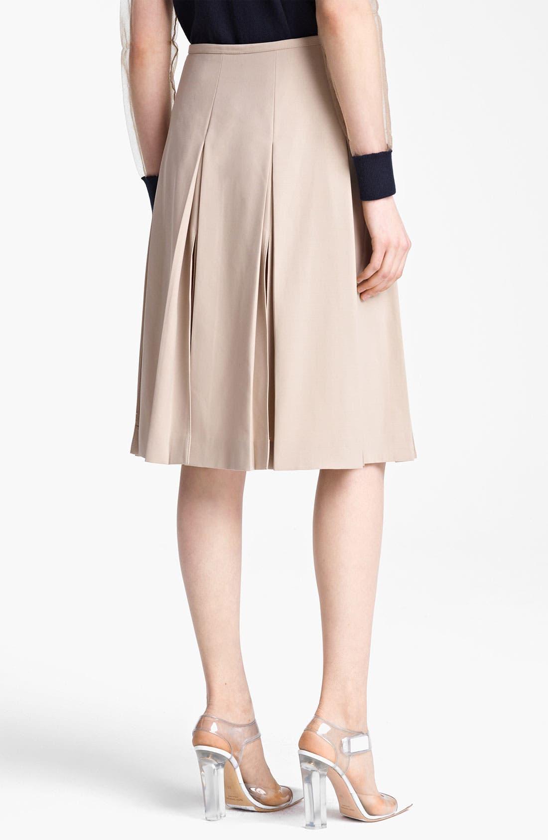 Alternate Image 2  - Michael Kors Pleated Wool Serge Skirt