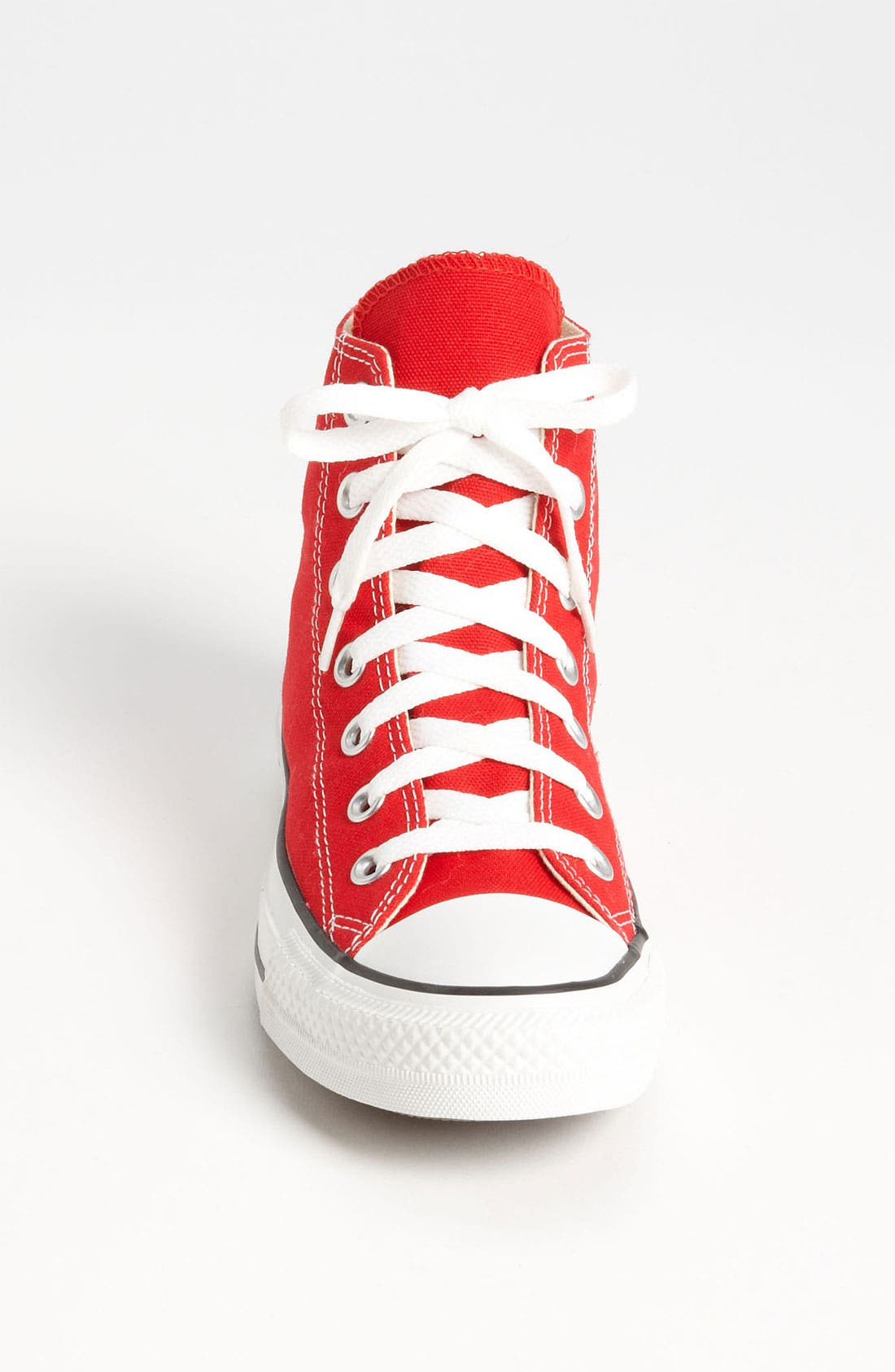 Chuck Taylor<sup>®</sup> High Top Sneaker,                             Alternate thumbnail 3, color,                             Red