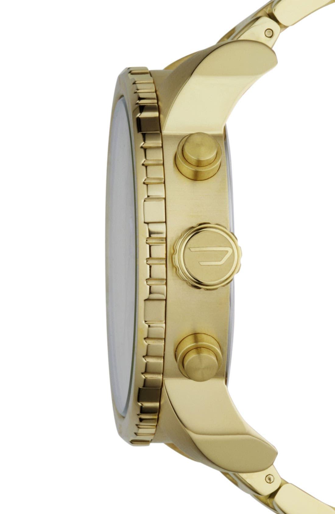 Alternate Image 2  - DIESEL® 'Double Down' Large Chronograph Bracelet Watch, 52mm