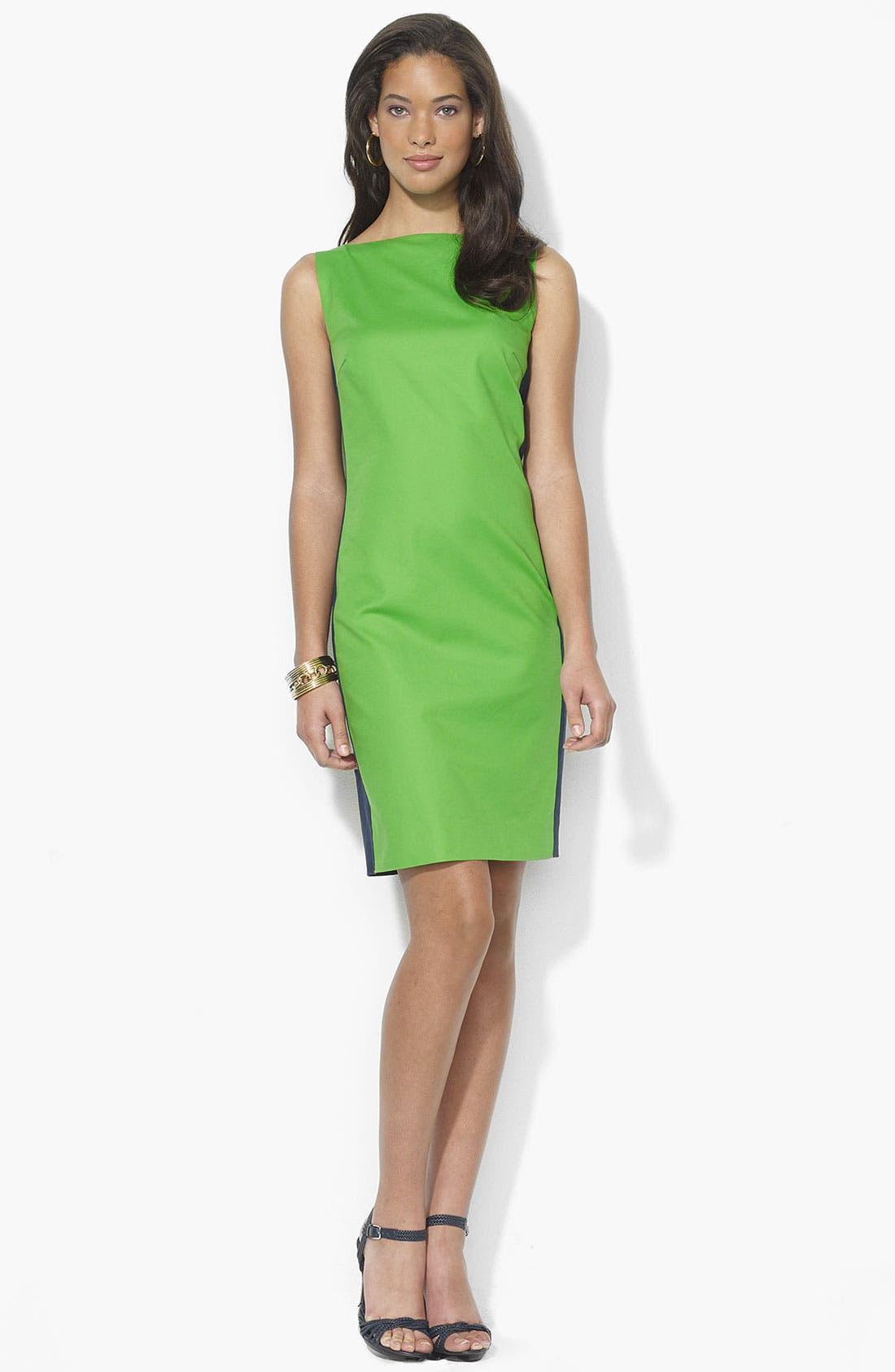 Main Image - Lauren Ralph Lauren Bateau Neck Sheath Dress