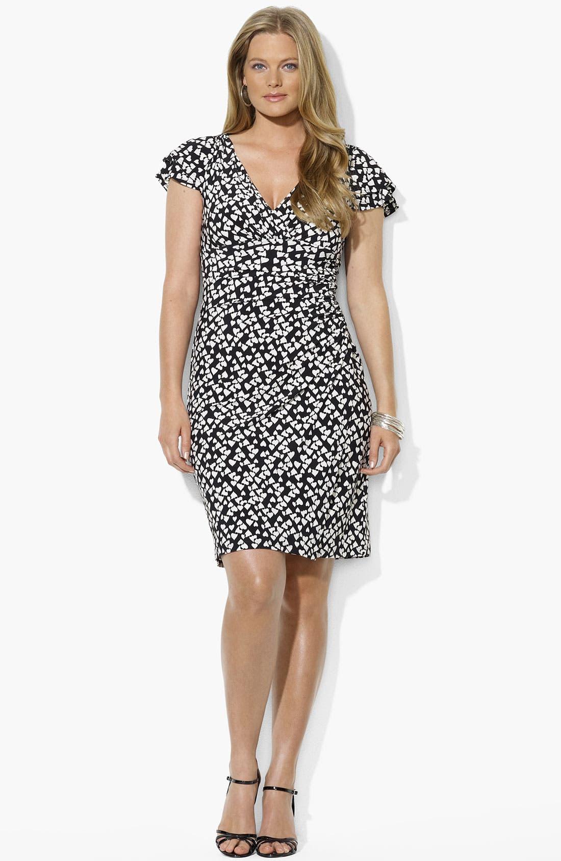 Alternate Image 2  - Lauren Ralph Lauren Print Matte Jersey Dress (Plus Size)