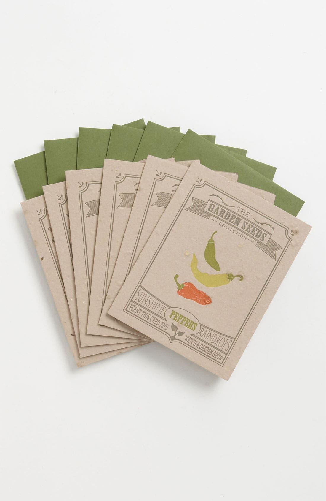 Alternate Image 1 Selected - Garden Seeded Letterpress Greeting Cards (Set of 6)