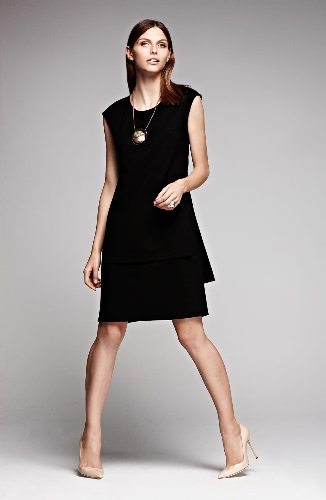 Alternate Image 6  - Lafayette 148 New York  Layered Punto Milano Dress