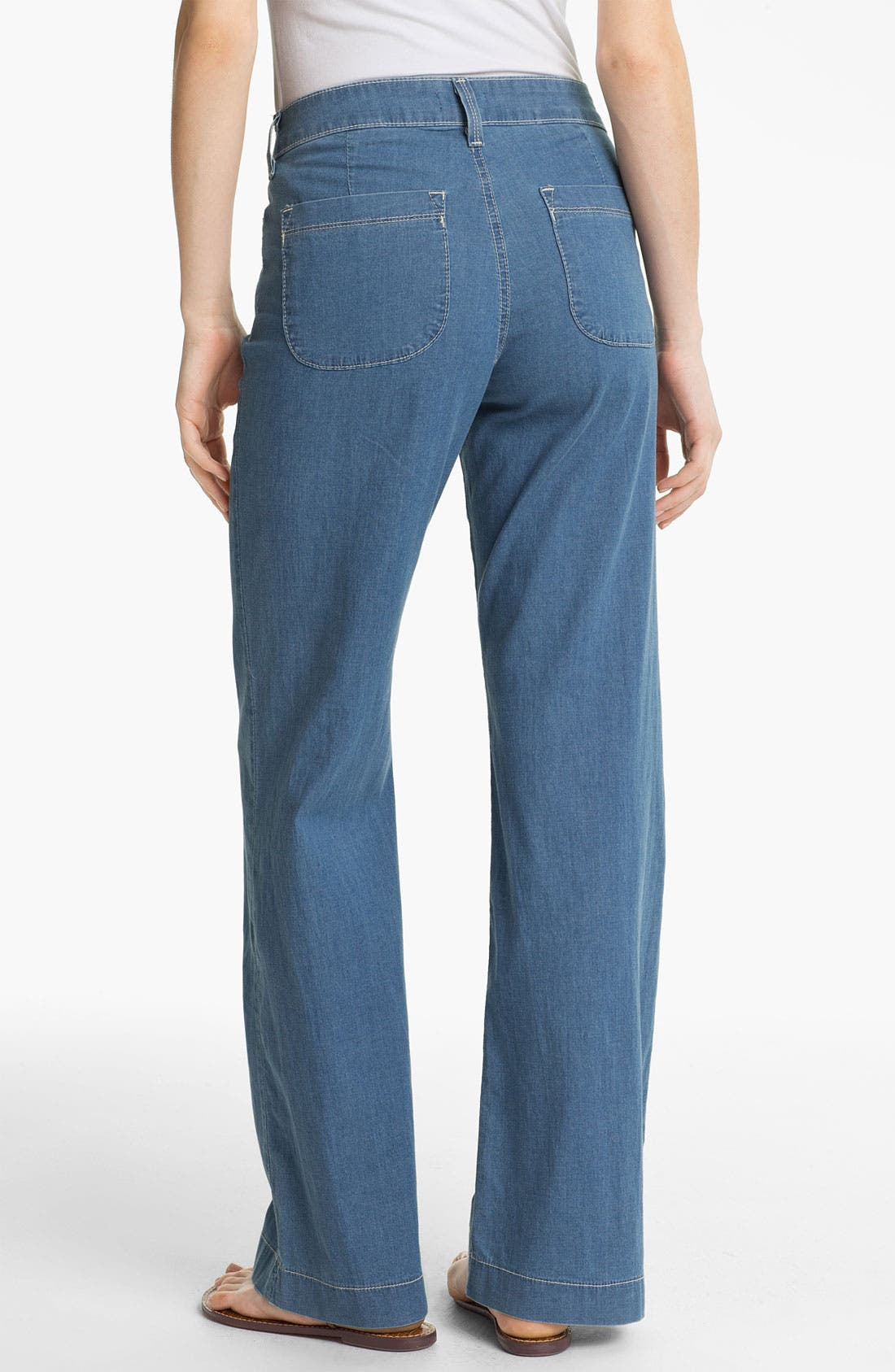 Alternate Image 2  - NYDJ 'Lizzie' Wide Leg Stretch Jeans