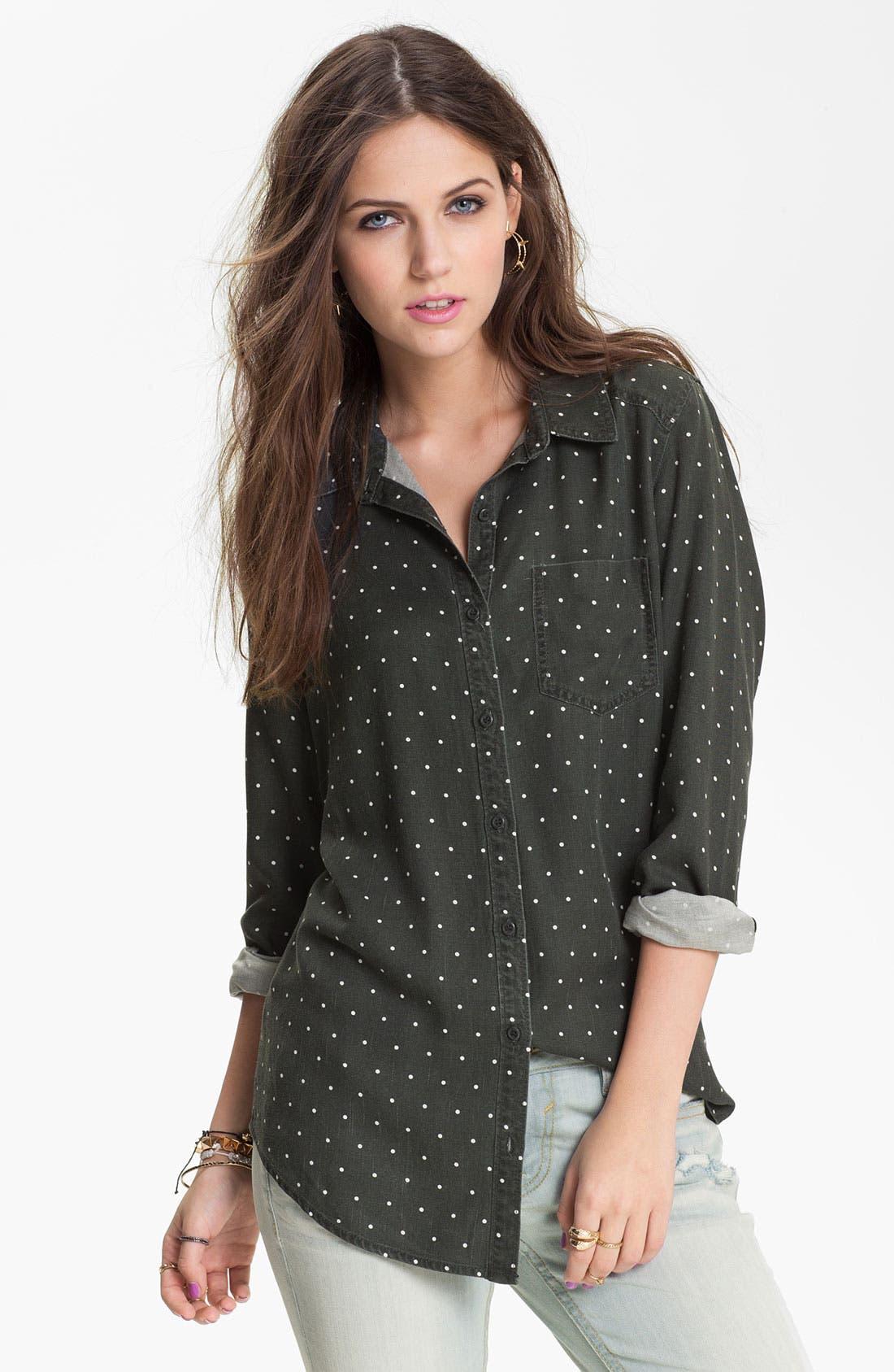 Mini Dot Menswear Shirt,                             Main thumbnail 1, color,                             Simplest Dot Black