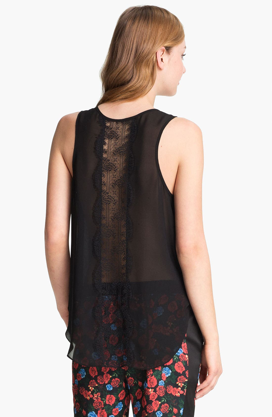 Alternate Image 1 Selected - Vince Camuto Back Lace Panel Tank