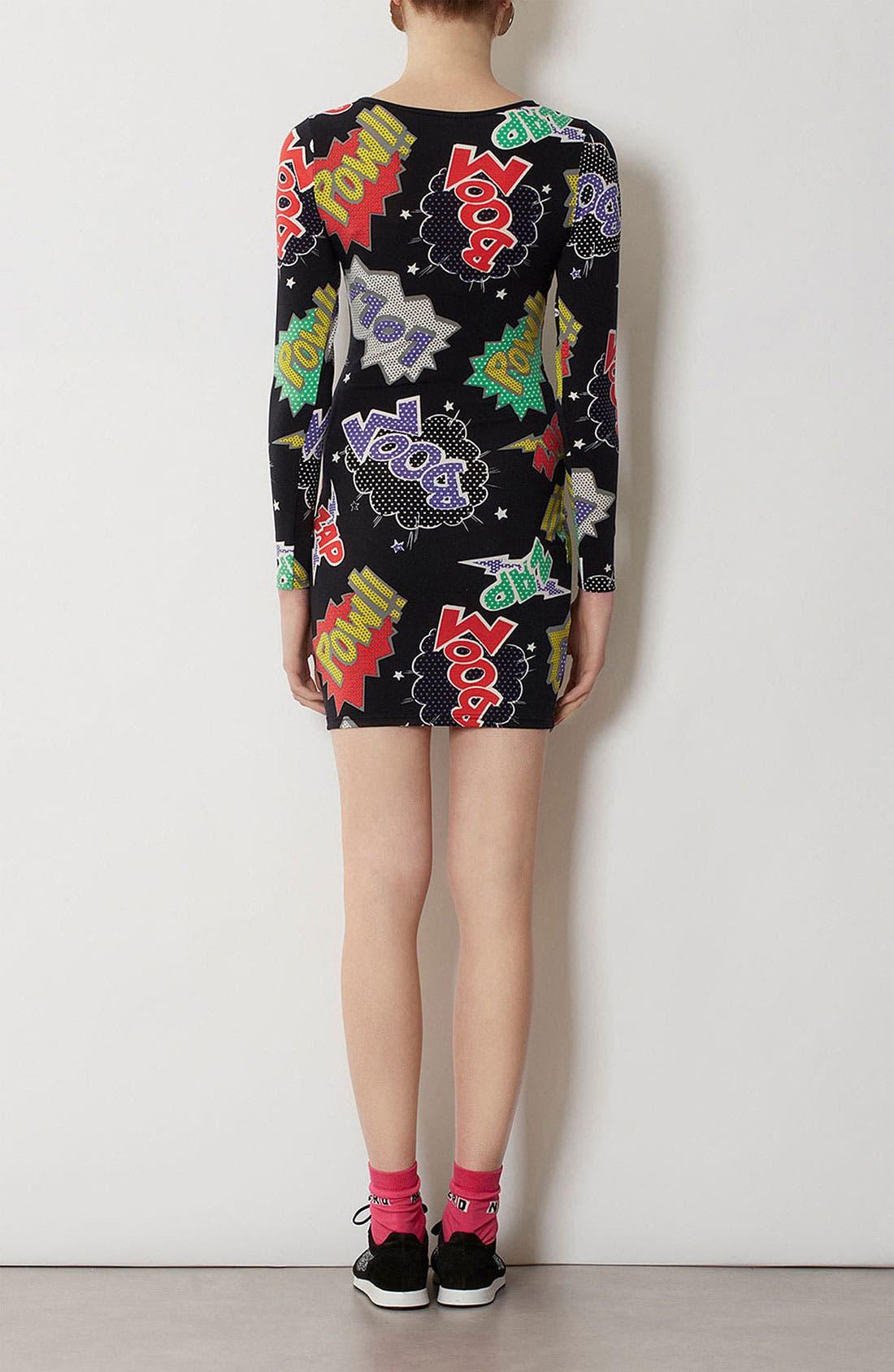 Alternate Image 3  - Topshop Comic Book Print Body-Con Dress