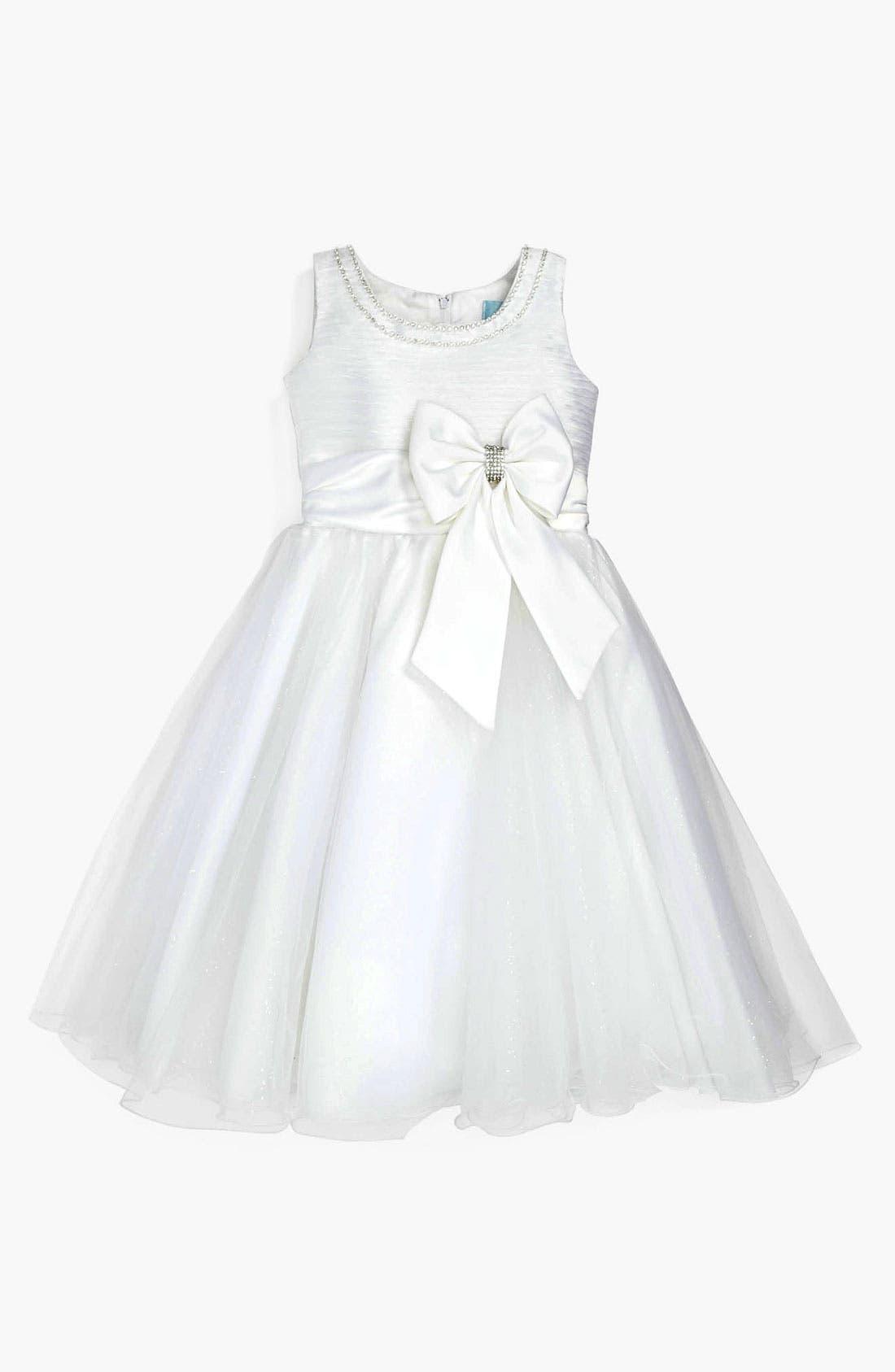 Alternate Image 1 Selected - L'Étoile Glitter Tulle Dress (Little Girls & Big Girls)