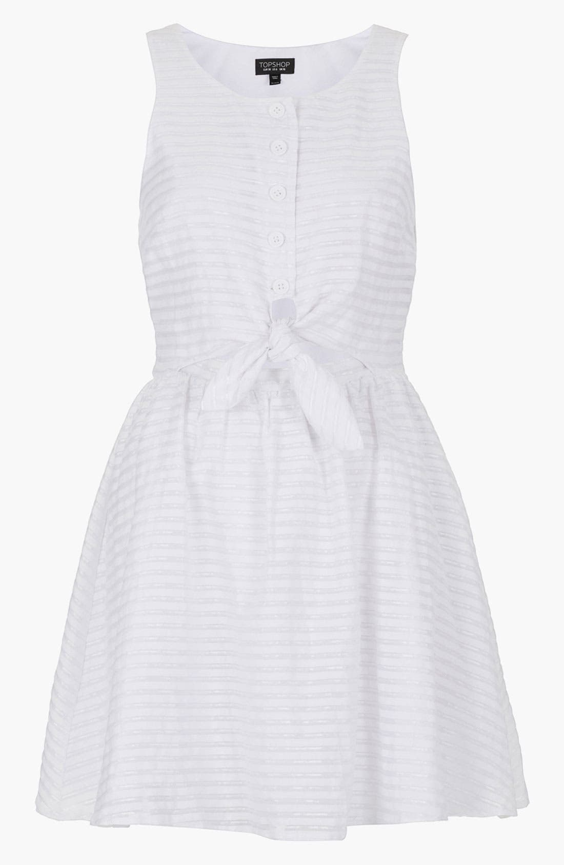 Alternate Image 1 Selected - Topshop Stripe Tie Front Sundress