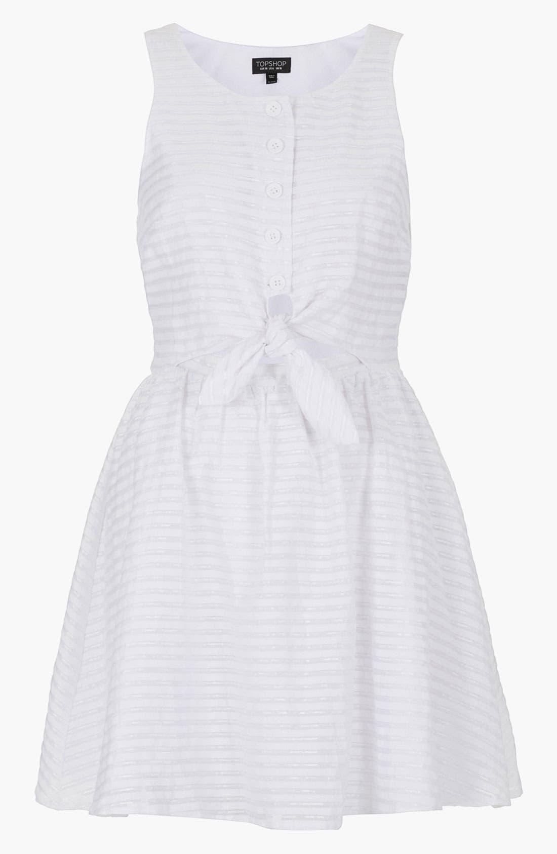 Main Image - Topshop Stripe Tie Front Sundress