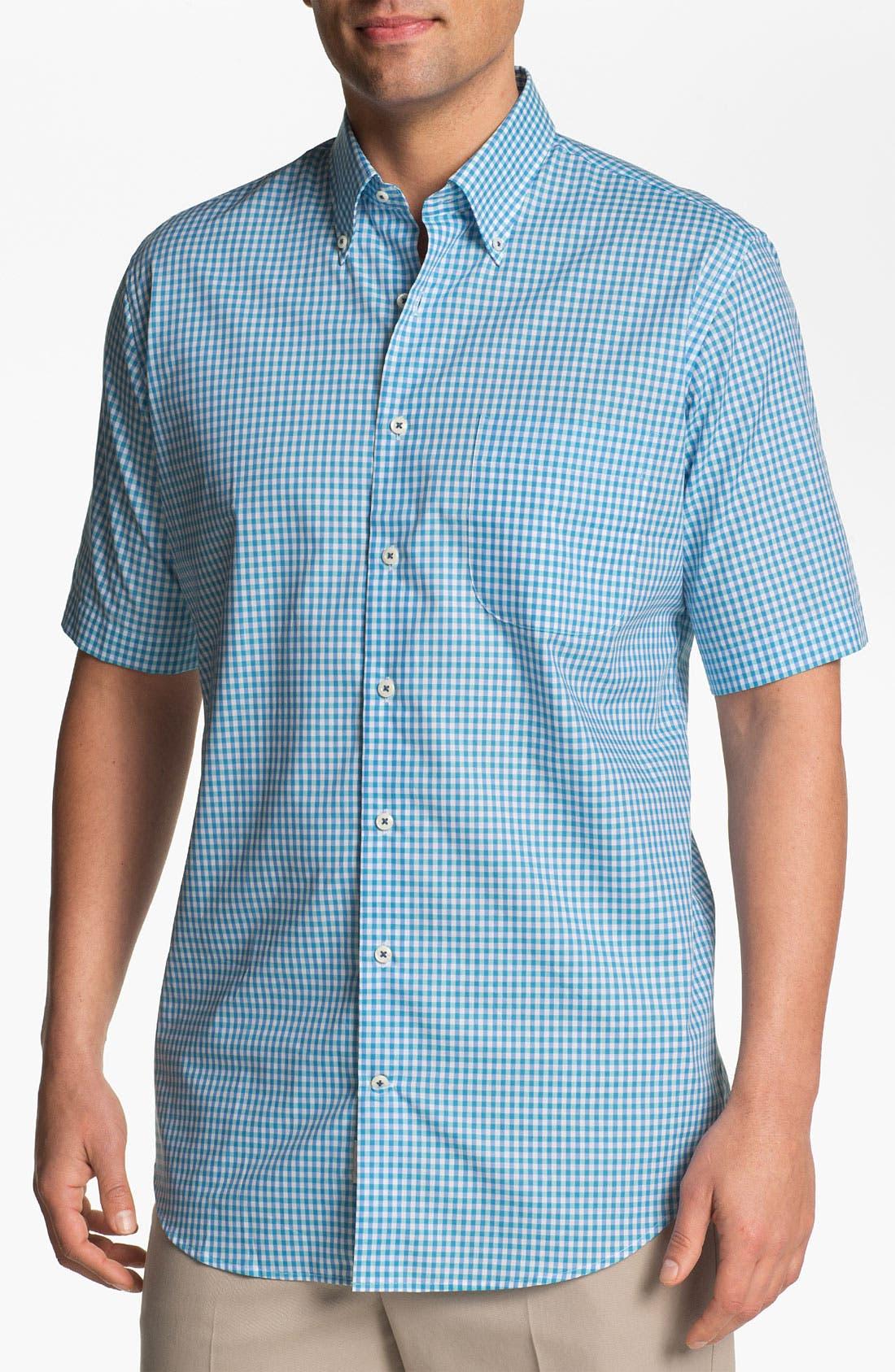 Main Image - Peter Millar Regular Fit Short Sleeve Sport Shirt