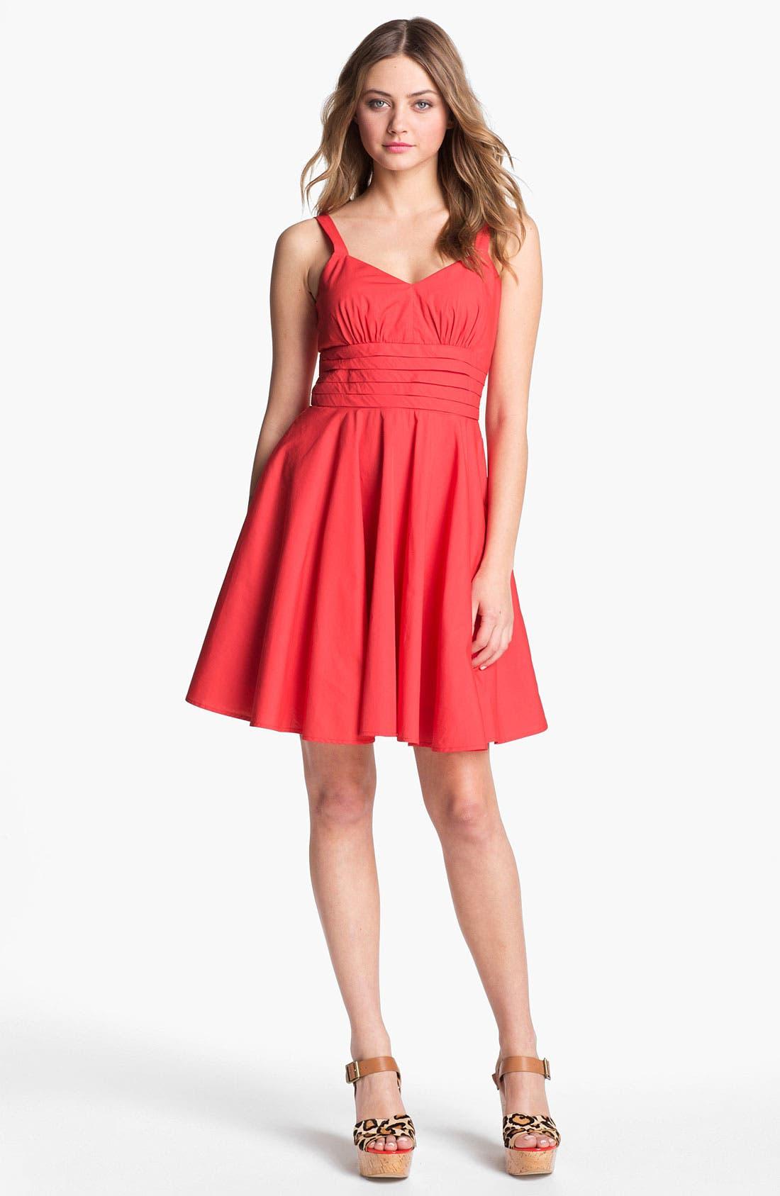 Alternate Image 1 Selected - BB Dakota 'Maida' Cotton Fit & Flare Dress