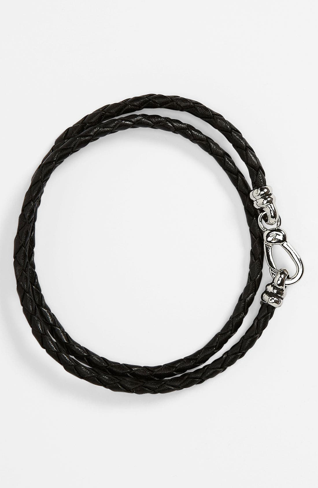 Alternate Image 1 Selected - Zack Braided Leather Bracelet