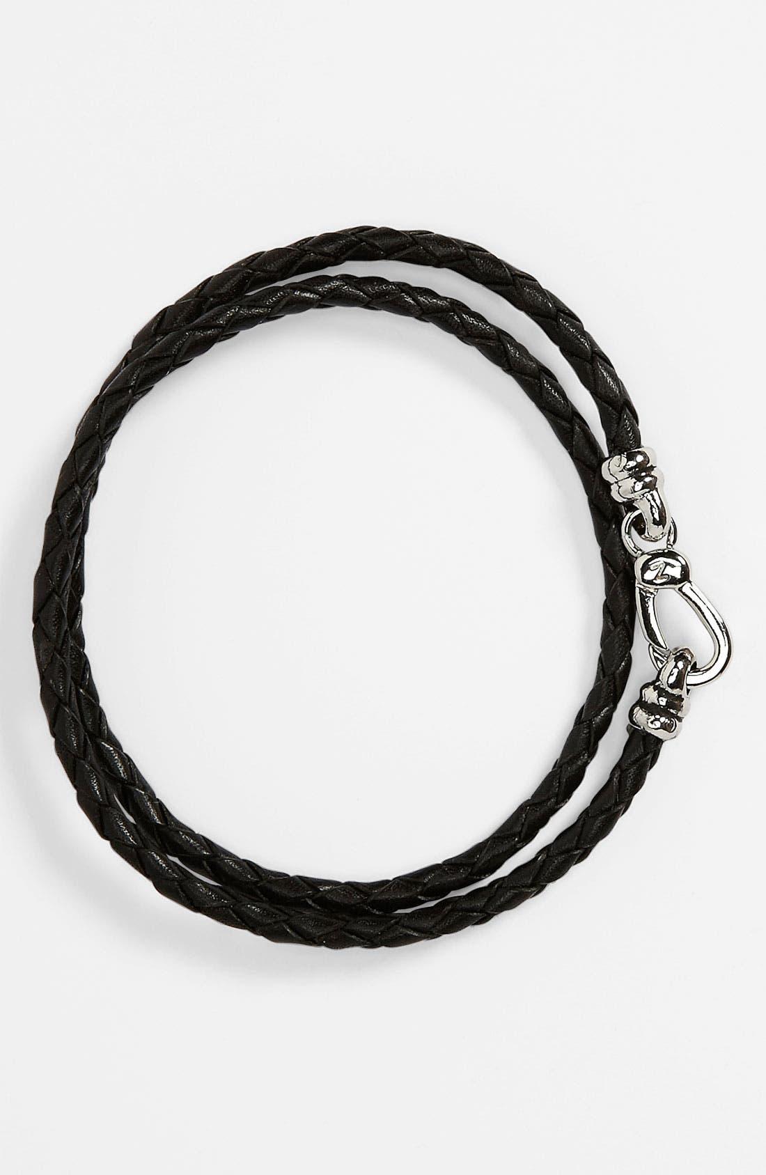 Main Image - Zack Braided Leather Bracelet