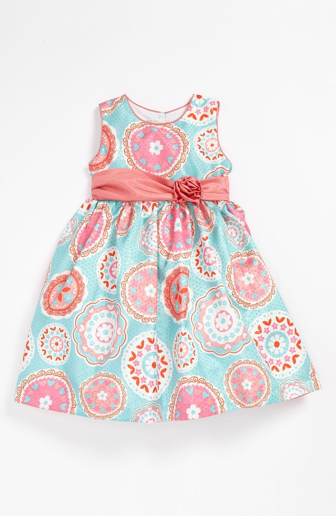 Alternate Image 1 Selected - Pippa & Julie Medallion Print Dress (Toddler)