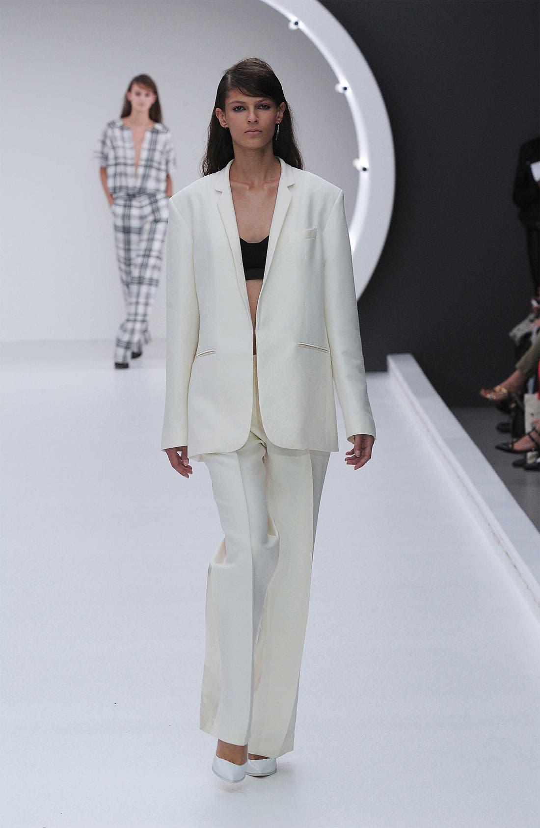 Alternate Image 2  - Topshop Unique Silk Blazer