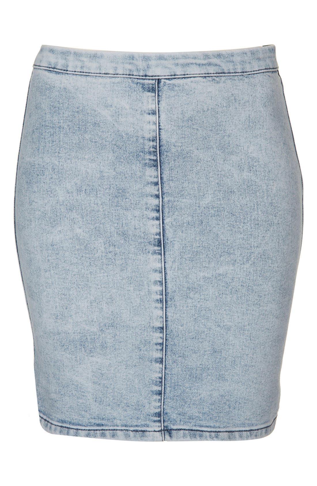 Alternate Image 1 Selected - Topshop Moto 'Joni' Denim Skirt