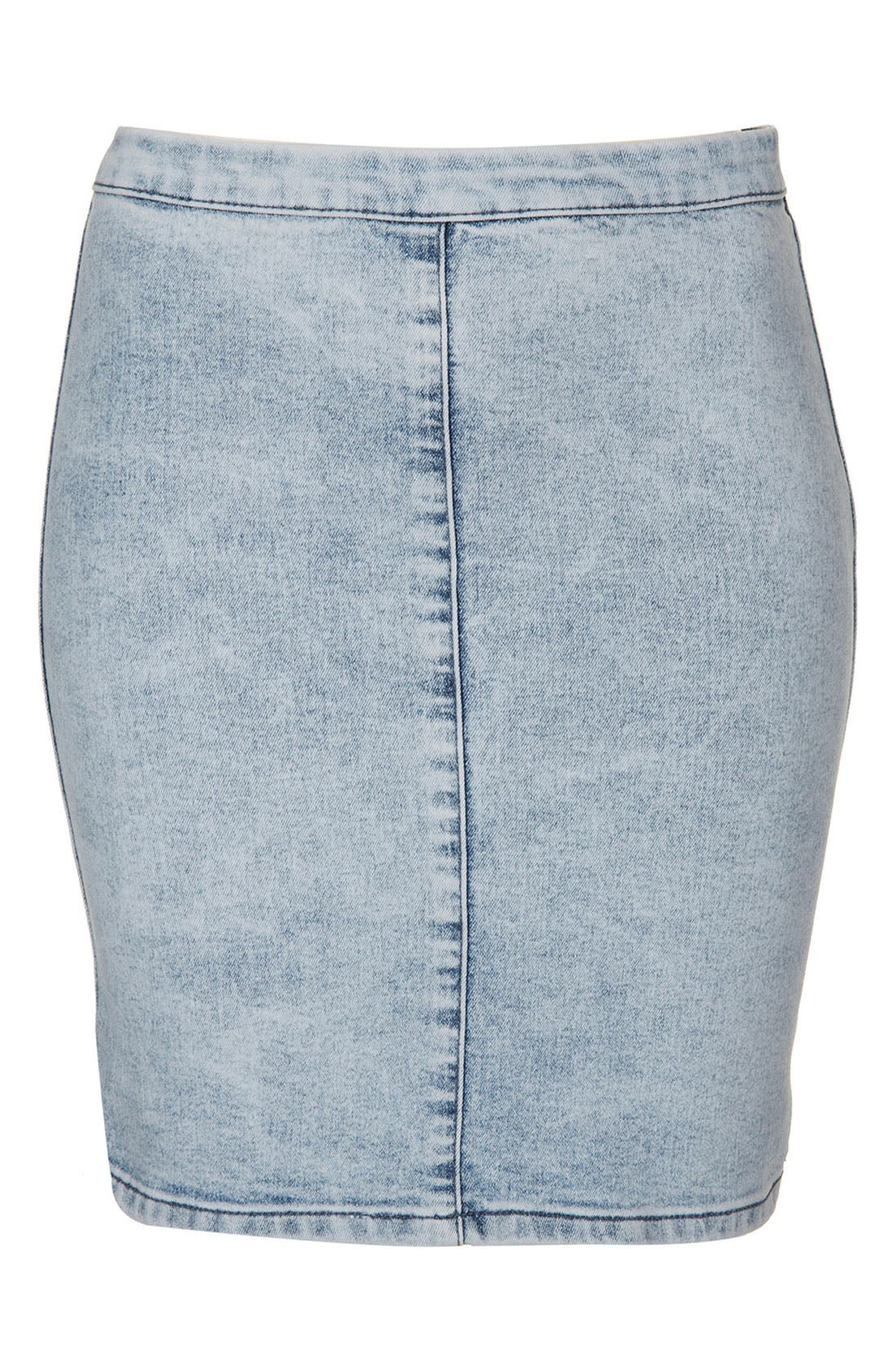Main Image - Topshop Moto 'Joni' Denim Skirt