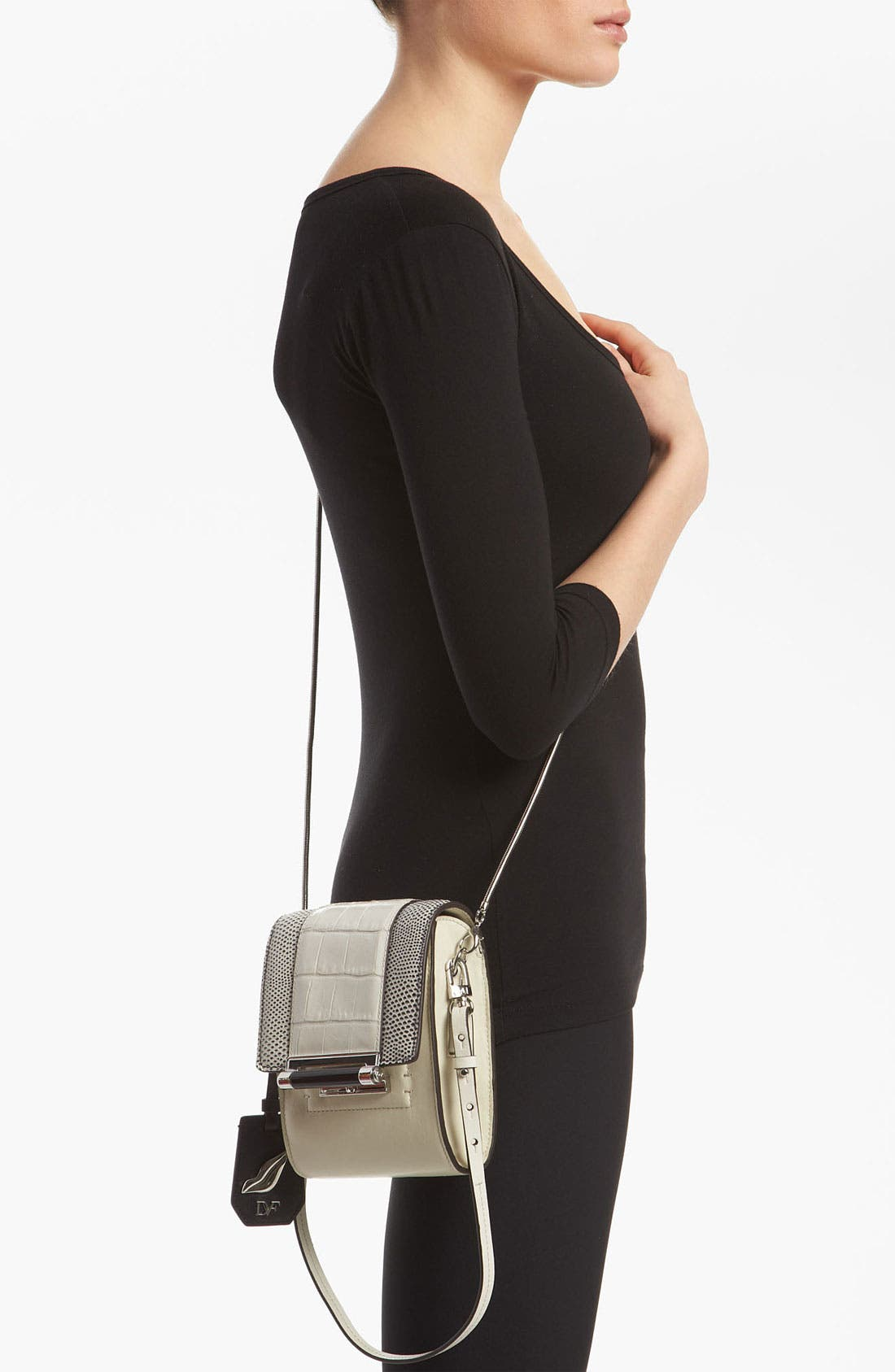 Alternate Image 2  - Diane von Furstenberg 'Parker - Mini' Embossed Crossbody Bag