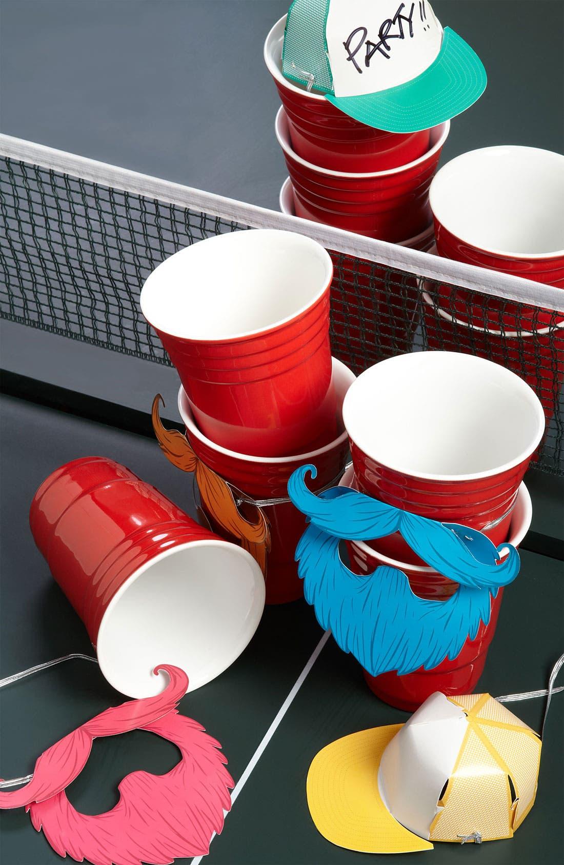 Alternate Image 2  - Kikkerland Design Red Porcelain Party Cup