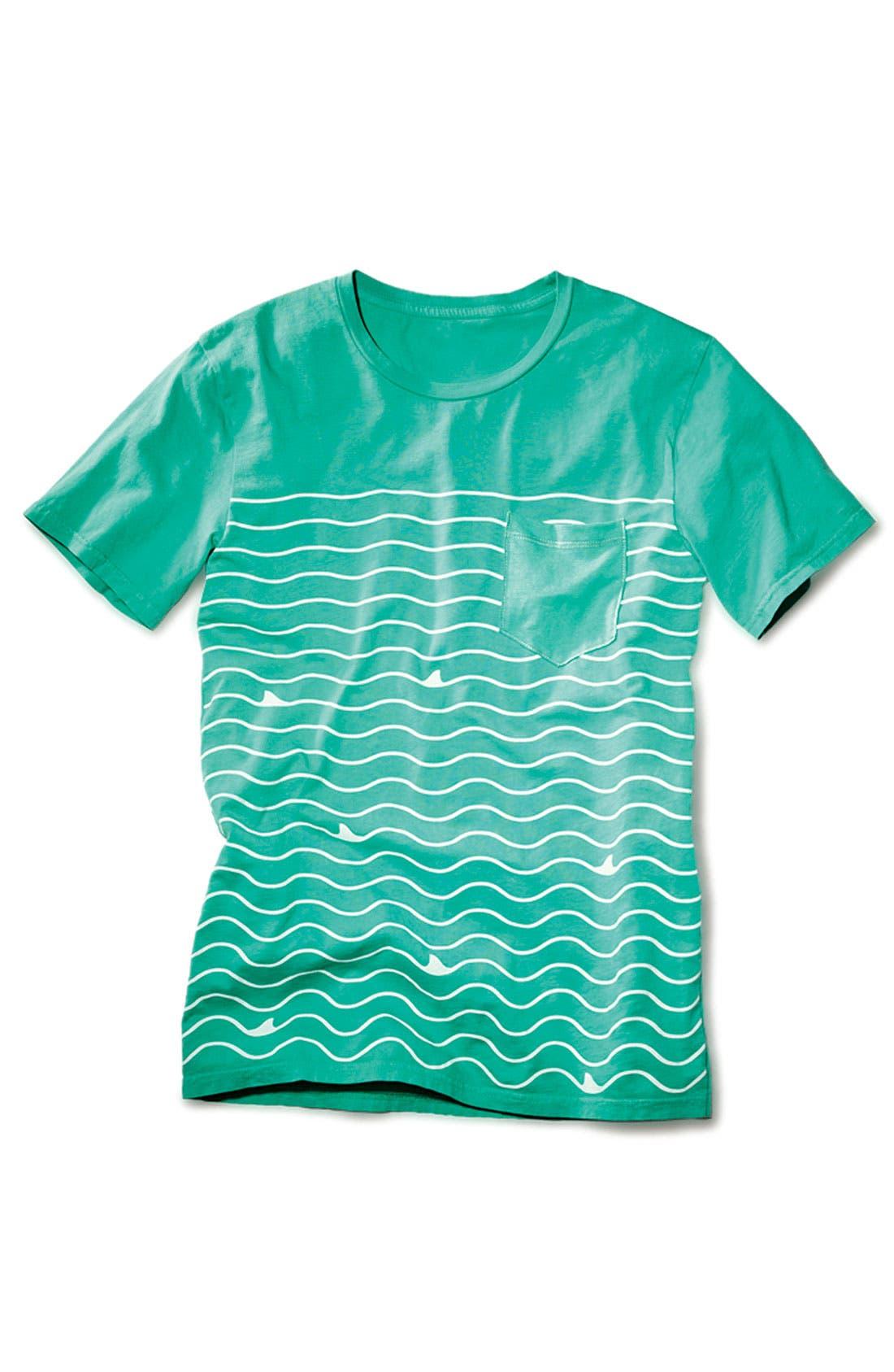 Alternate Image 4  - Altru 'Shark Lines' Pocket T-Shirt