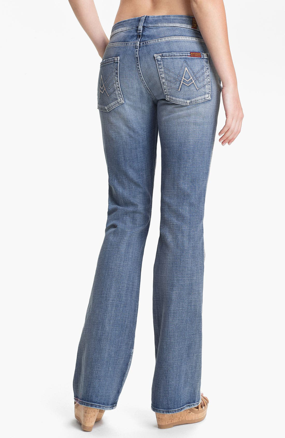 Alternate Image 2  - 7 For All Mankind® 'A-Pocket' Bootcut Stretch Jeans (Pure Light Blue)