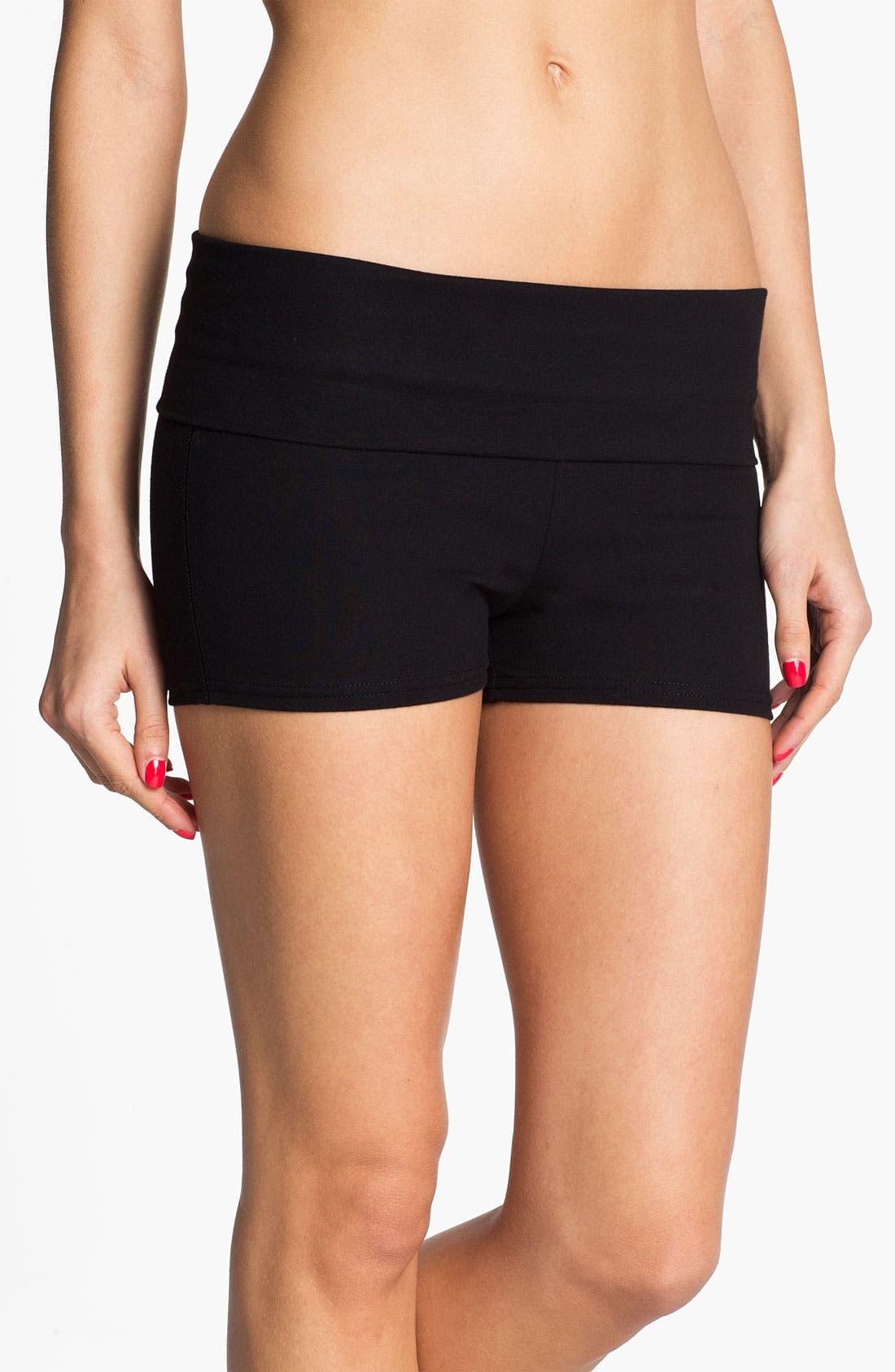 Alternate Image 1 Selected - BP. Undercover Foldover Lounge Shorts (Juniors)