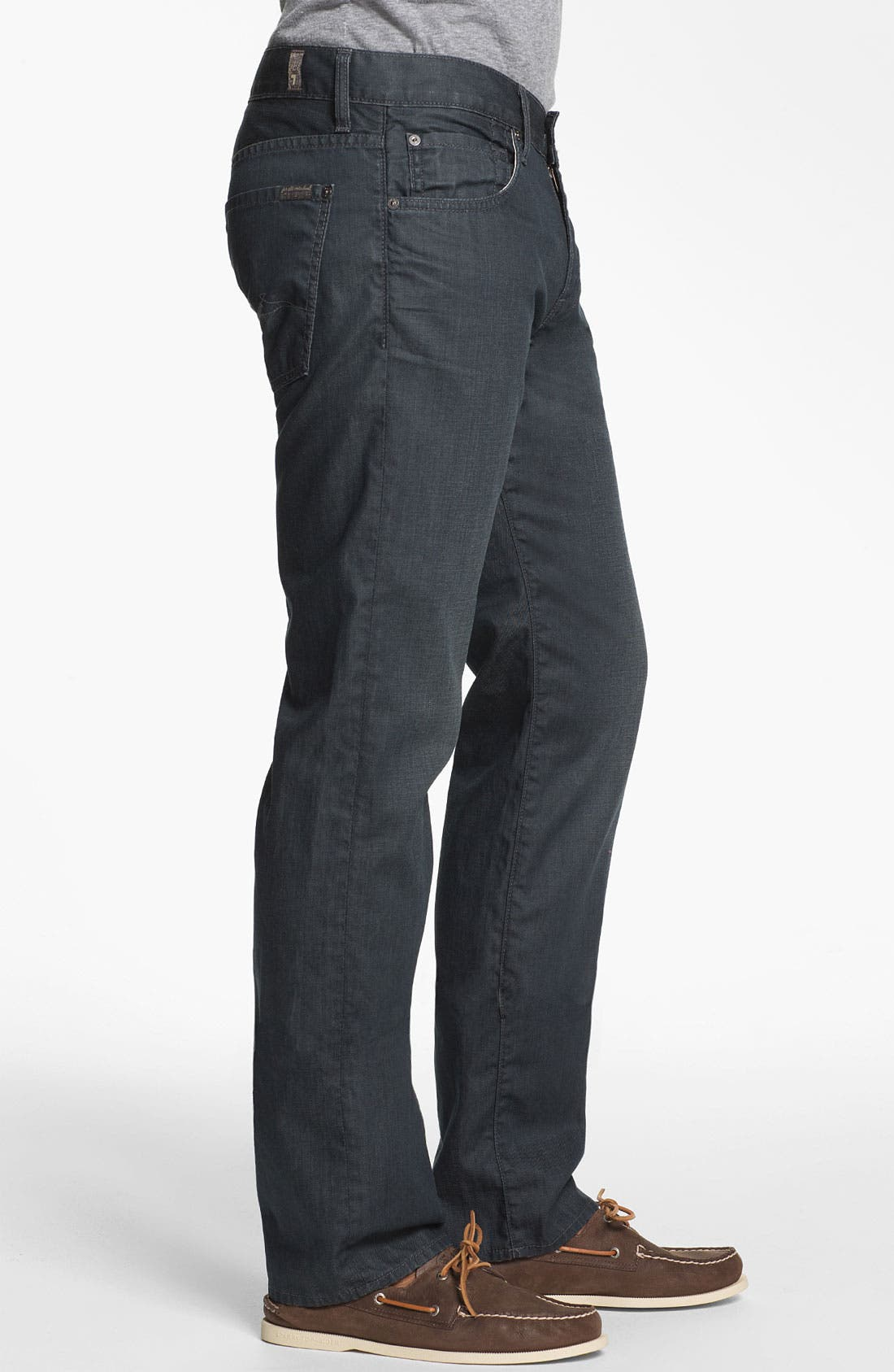 Alternate Image 3  - 7 For All Mankind® 'Slimmy' Slim Fit Jeans (Cool Grey)