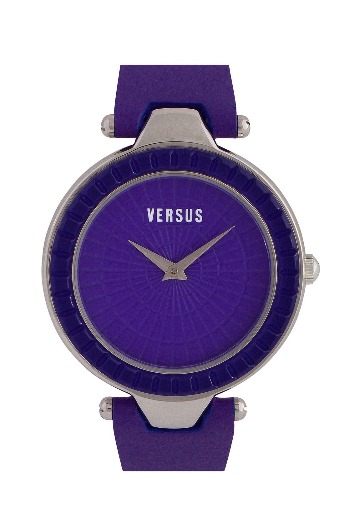Main Image - VERSUS by Versace 'Sertie' Leather Strap Watch, 38mm