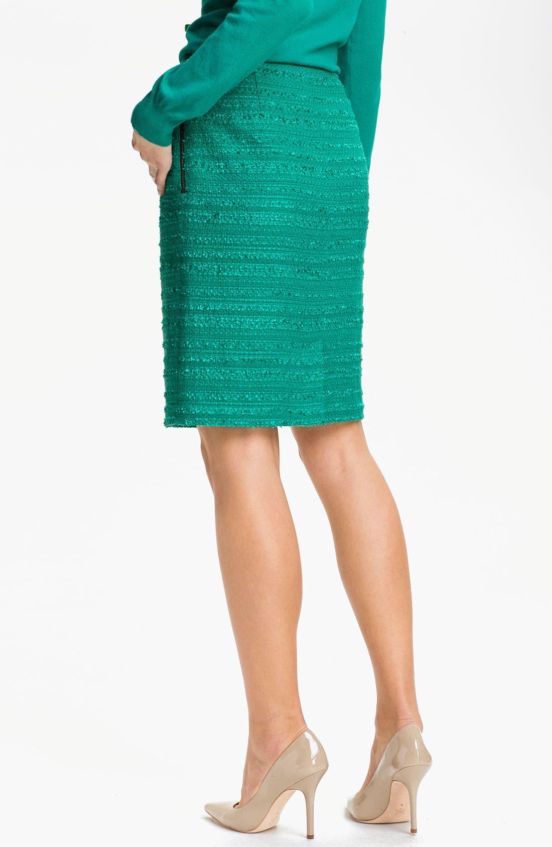 Alternate Image 2  - Halogen® Textured Pencil Skirt (Petite)