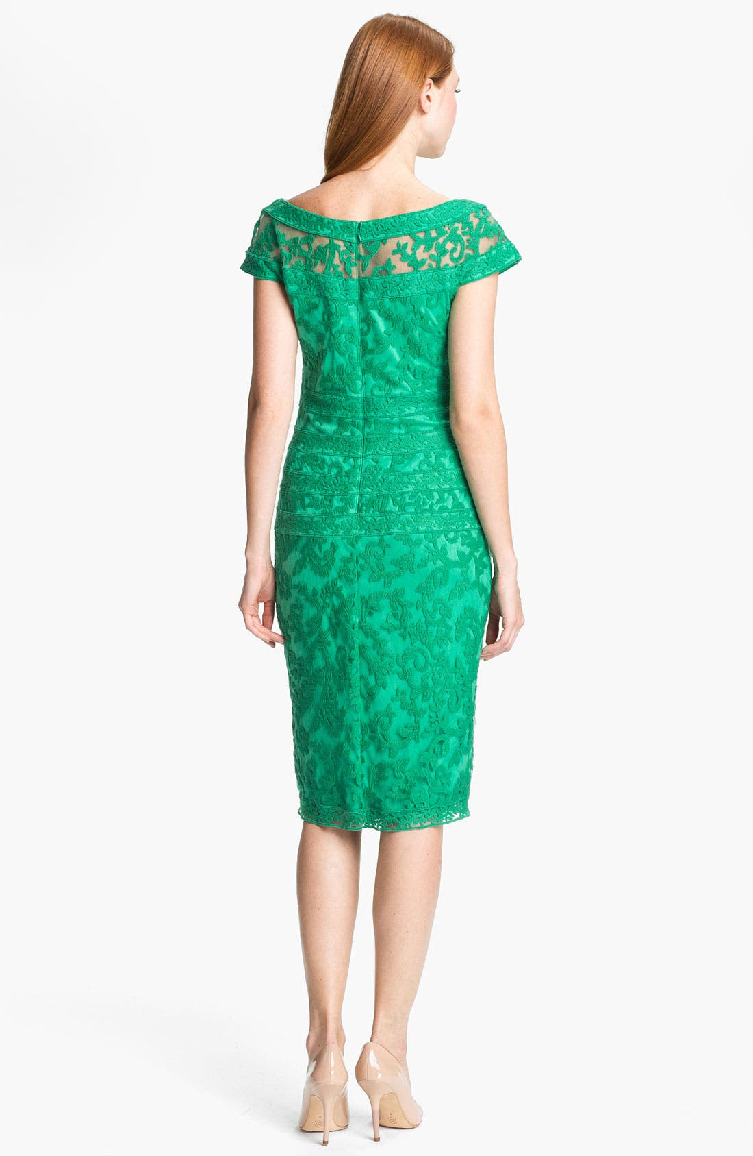 Alternate Image 2  - Tadashi Shoji Embroidered Lace Sheath Dress