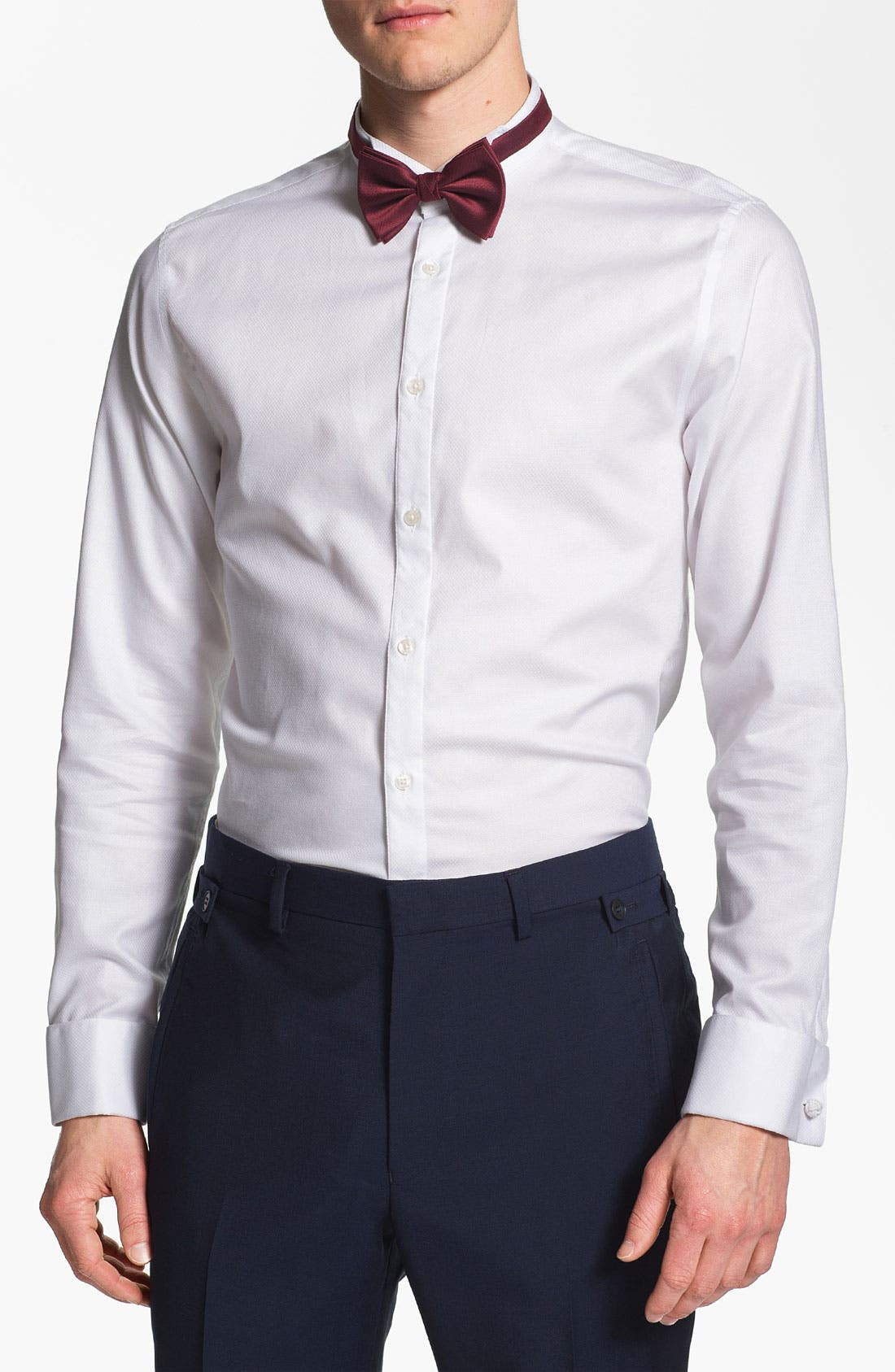 Alternate Image 1 Selected - Topman 'Lux Collection' Wing Collar Dress Shirt