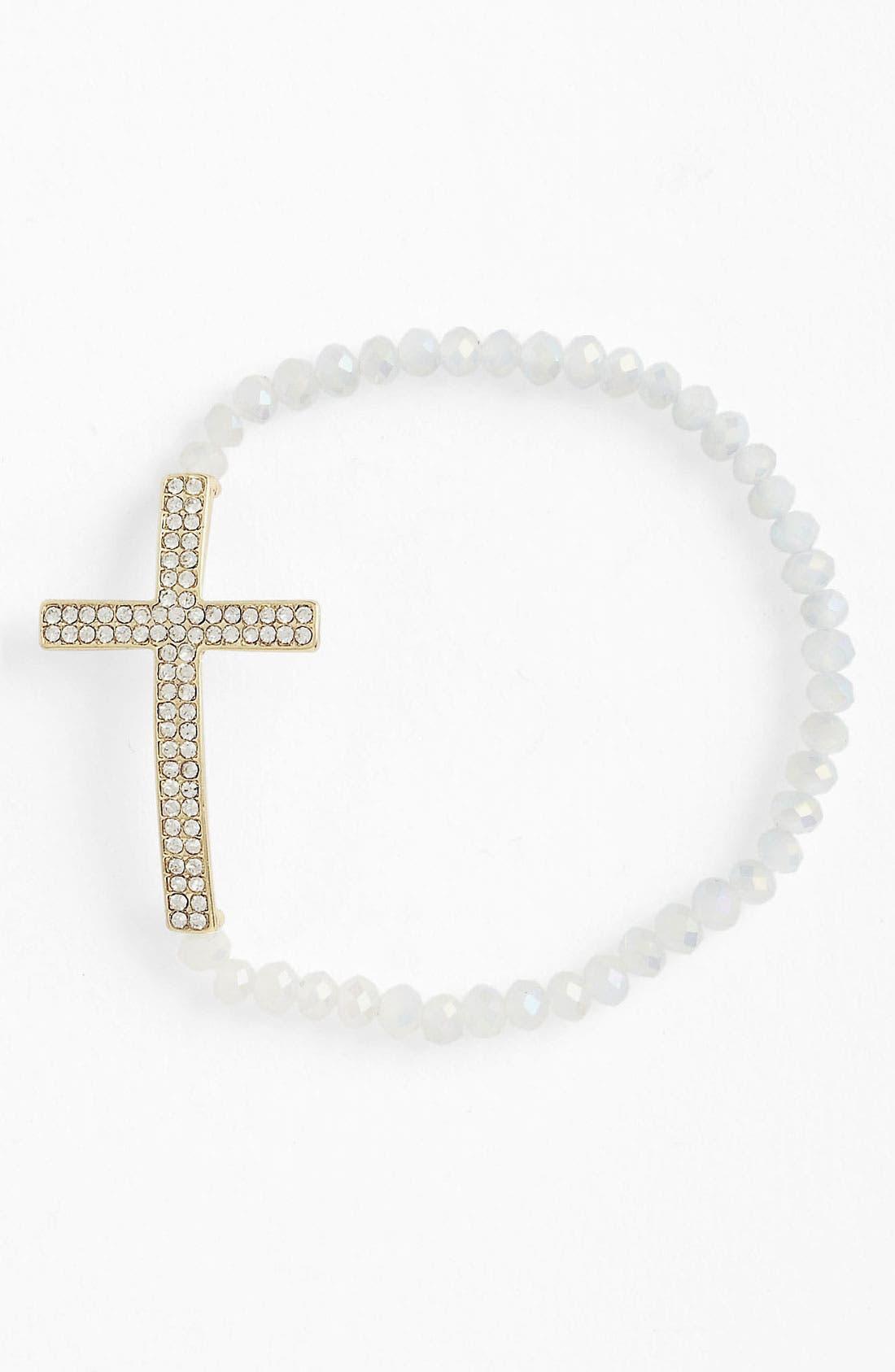 Alternate Image 1 Selected - Guinevere Cross Stretch Bracelet