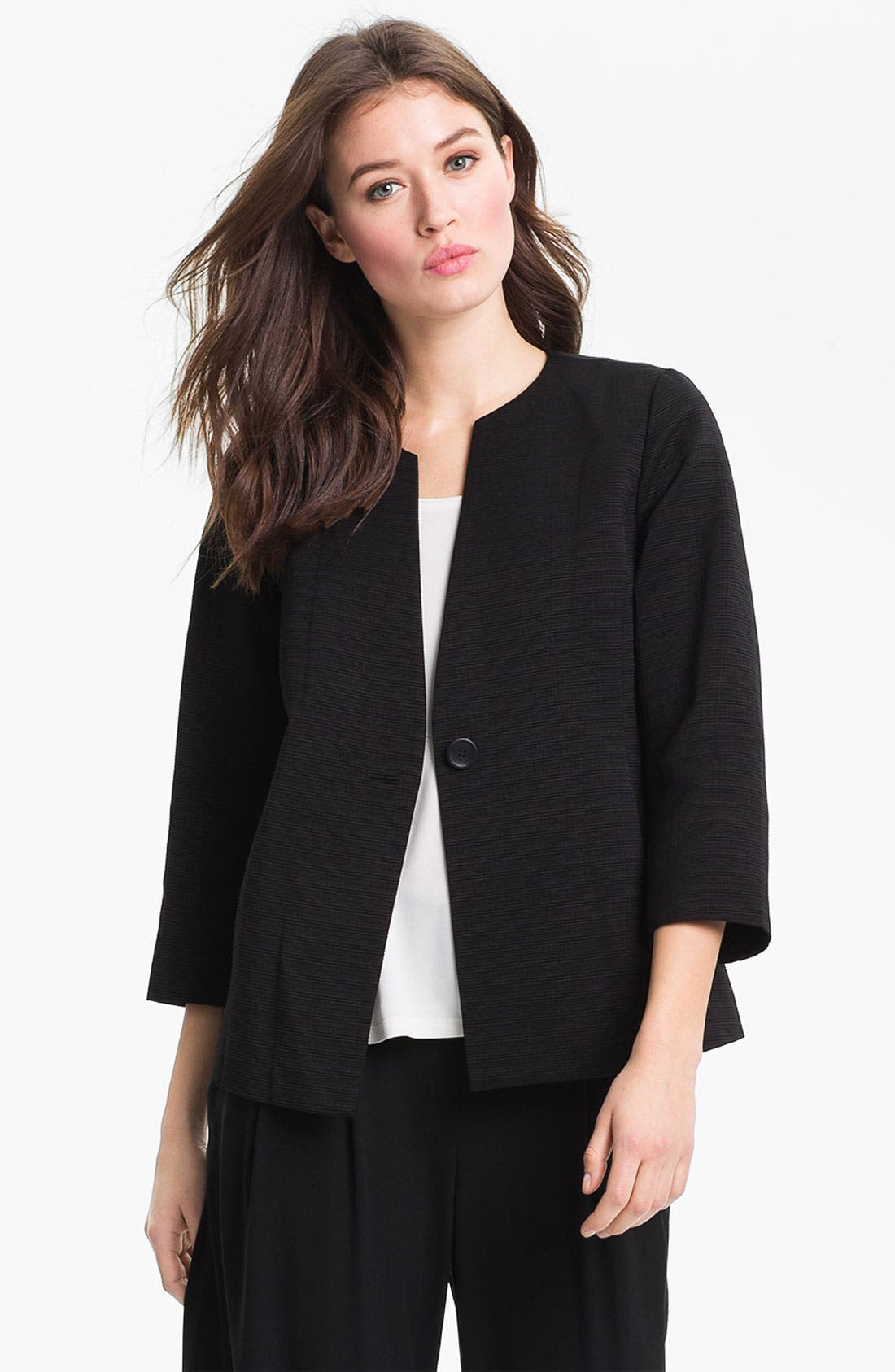 Alternate Image 1 Selected - Eileen Fisher Three Quarter Sleeve Jacket