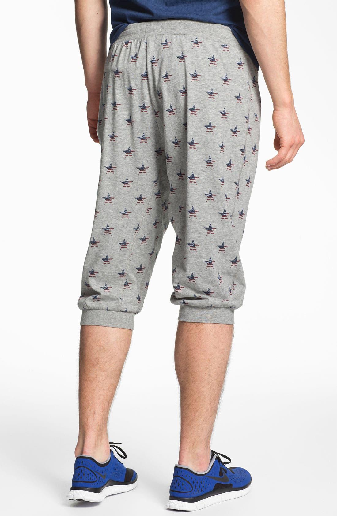 Alternate Image 2  - Topman 'Americana Star' Crop Sweatpants