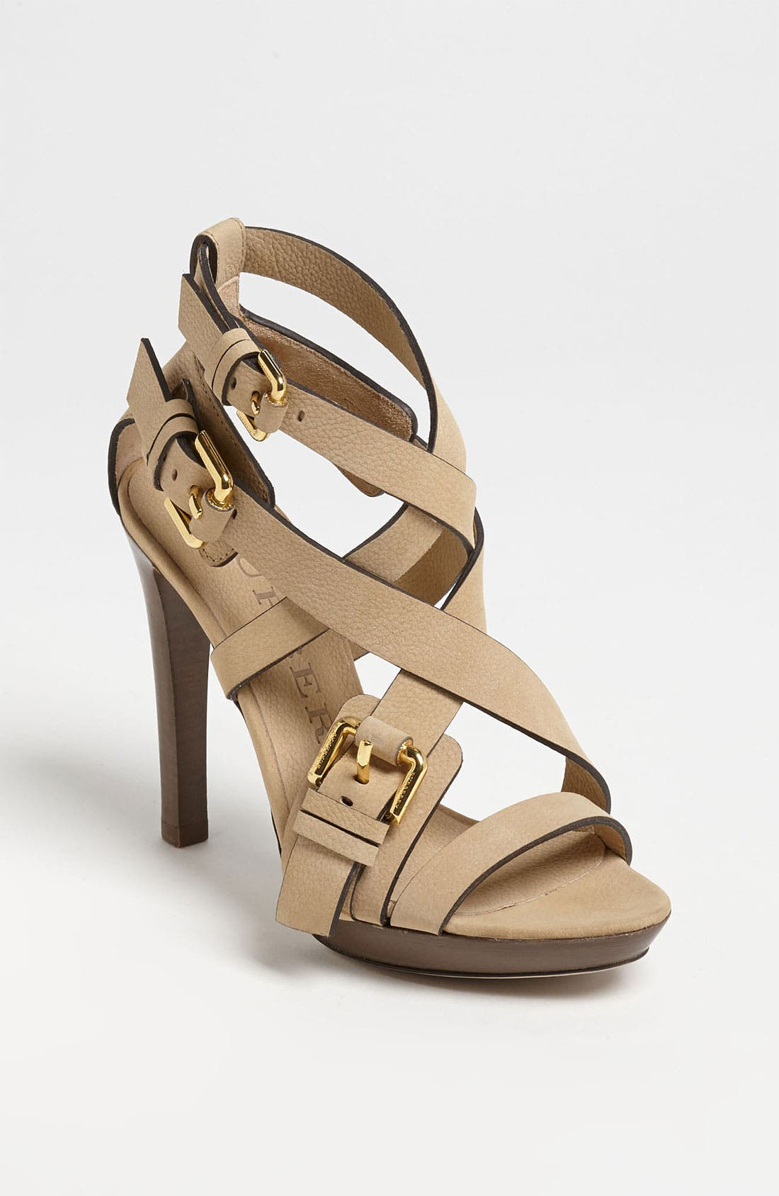 Alternate Image 1 Selected - Burberry Buckle Detail Sandal