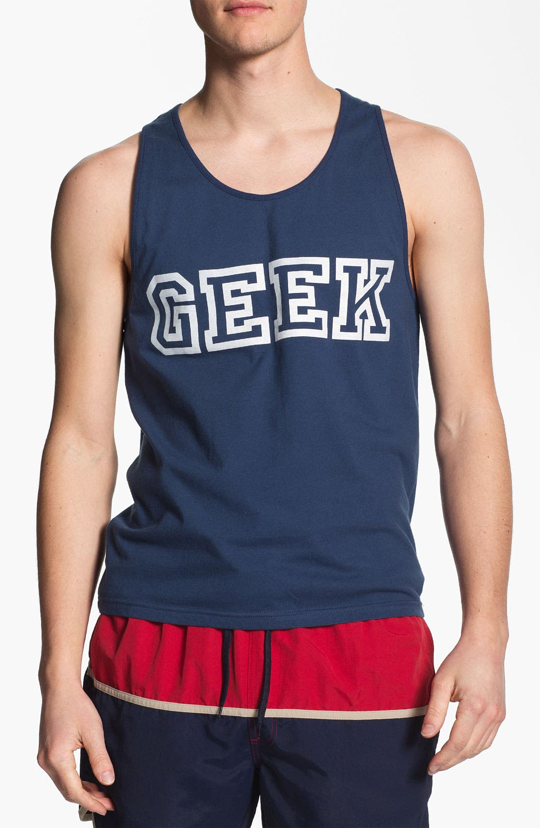 Alternate Image 1 Selected - Topman 'Geek' Print Tank Top