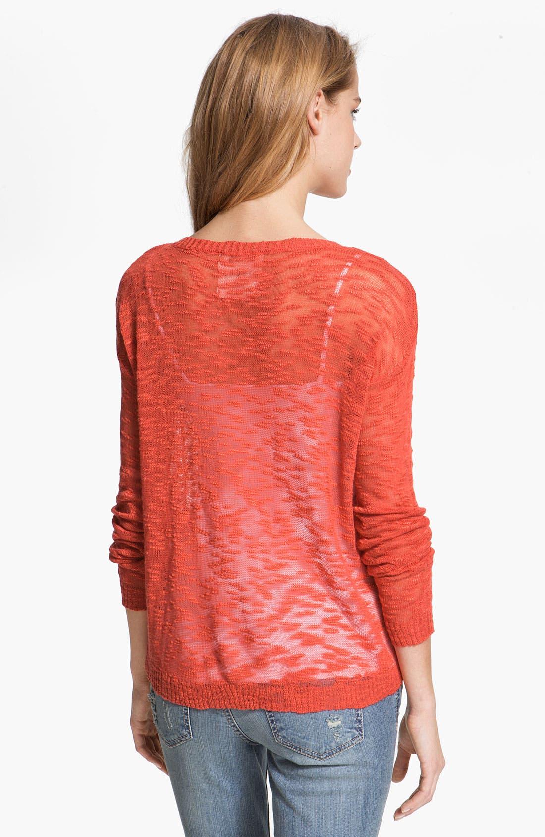 Alternate Image 2  - Kensie Burnout Sweater