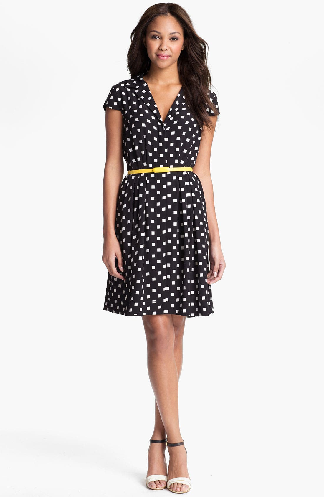 Alternate Image 1 Selected - Suzi Chin Maggy Boutique Belted Print Shirtdress