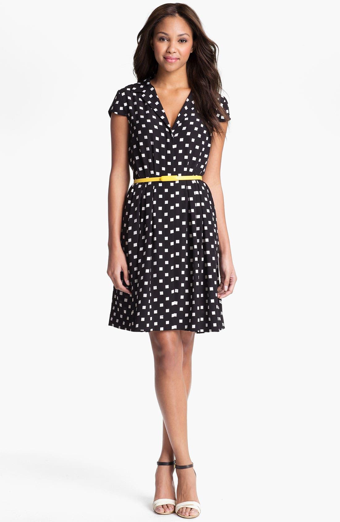 Main Image - Suzi Chin Maggy Boutique Belted Print Shirtdress