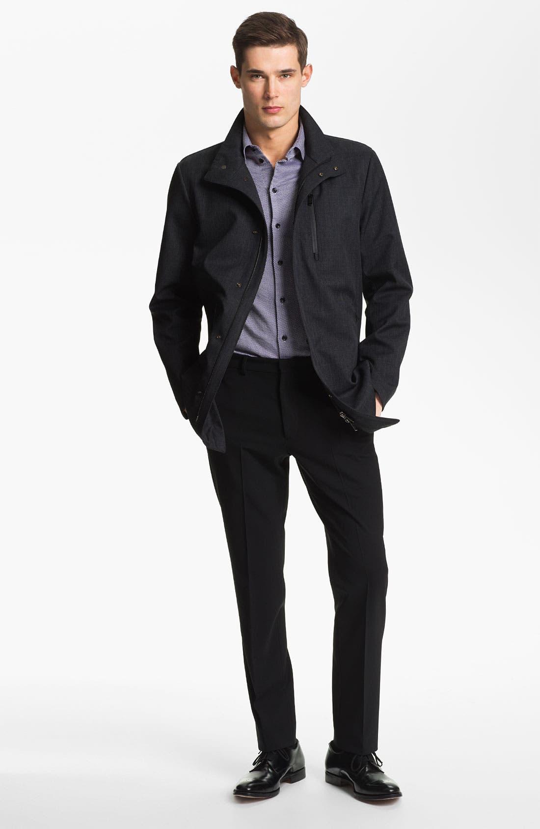 Alternate Image 4  - Armani Collezioni Microfiber Jacket