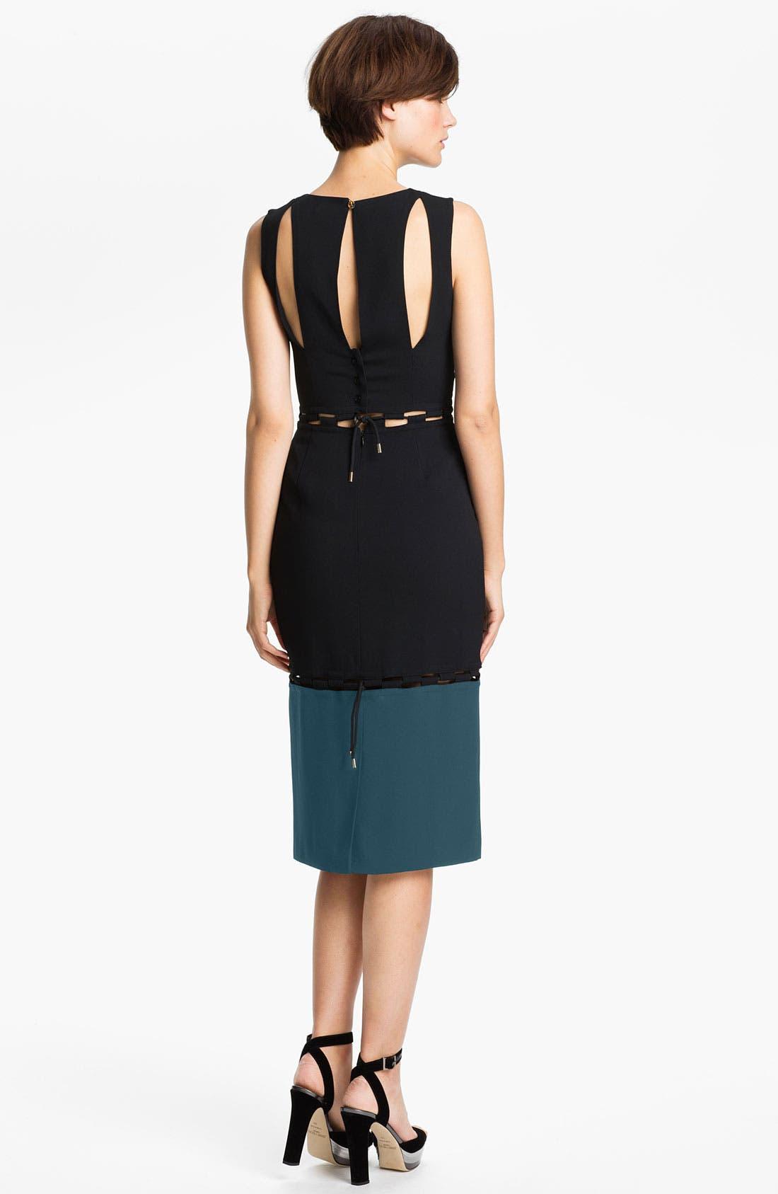 Alternate Image 2  - KENZO Checkerboard Cutout Crepe Dress